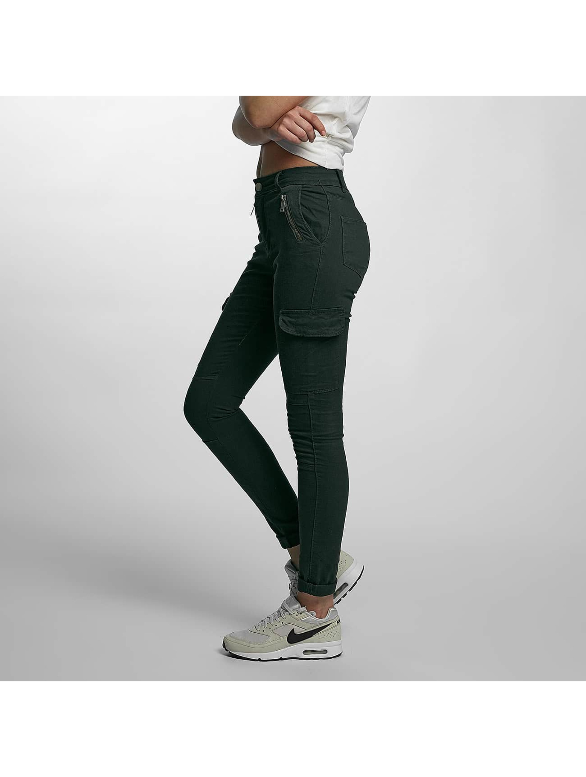 DEF Skinny Jeans Luisa oliwkowy