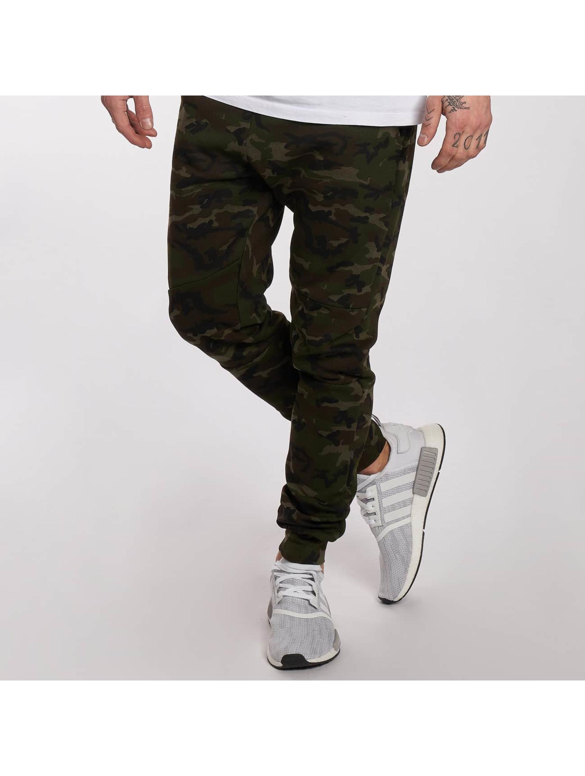 DEF Spodnie do joggingu Camo zielony