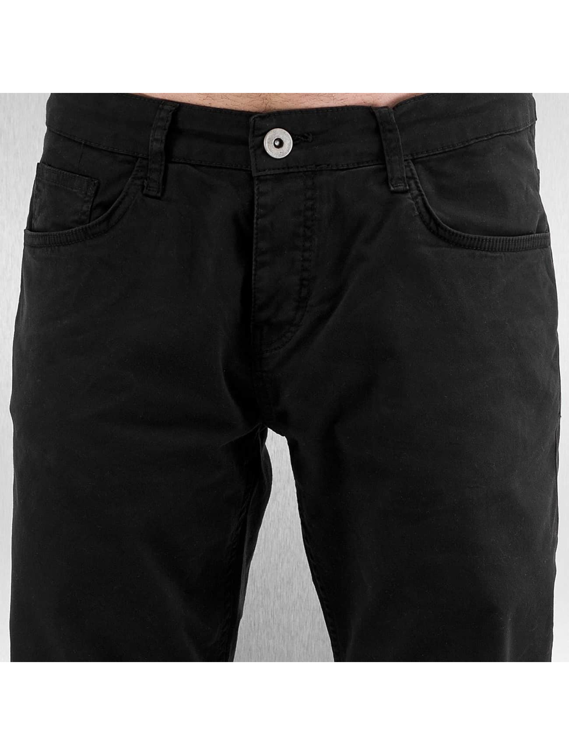 DEF Spodnie wizytowe Basic czarny