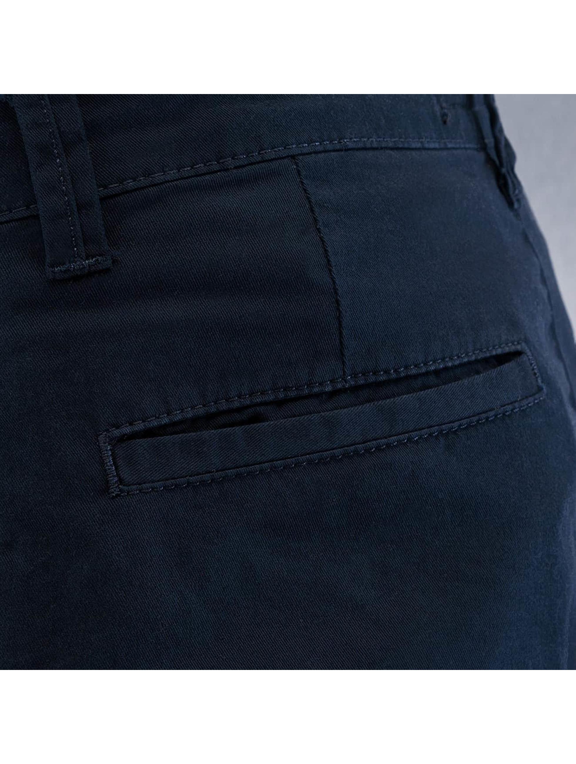DEF Spodnie wizytowe Antifit niebieski
