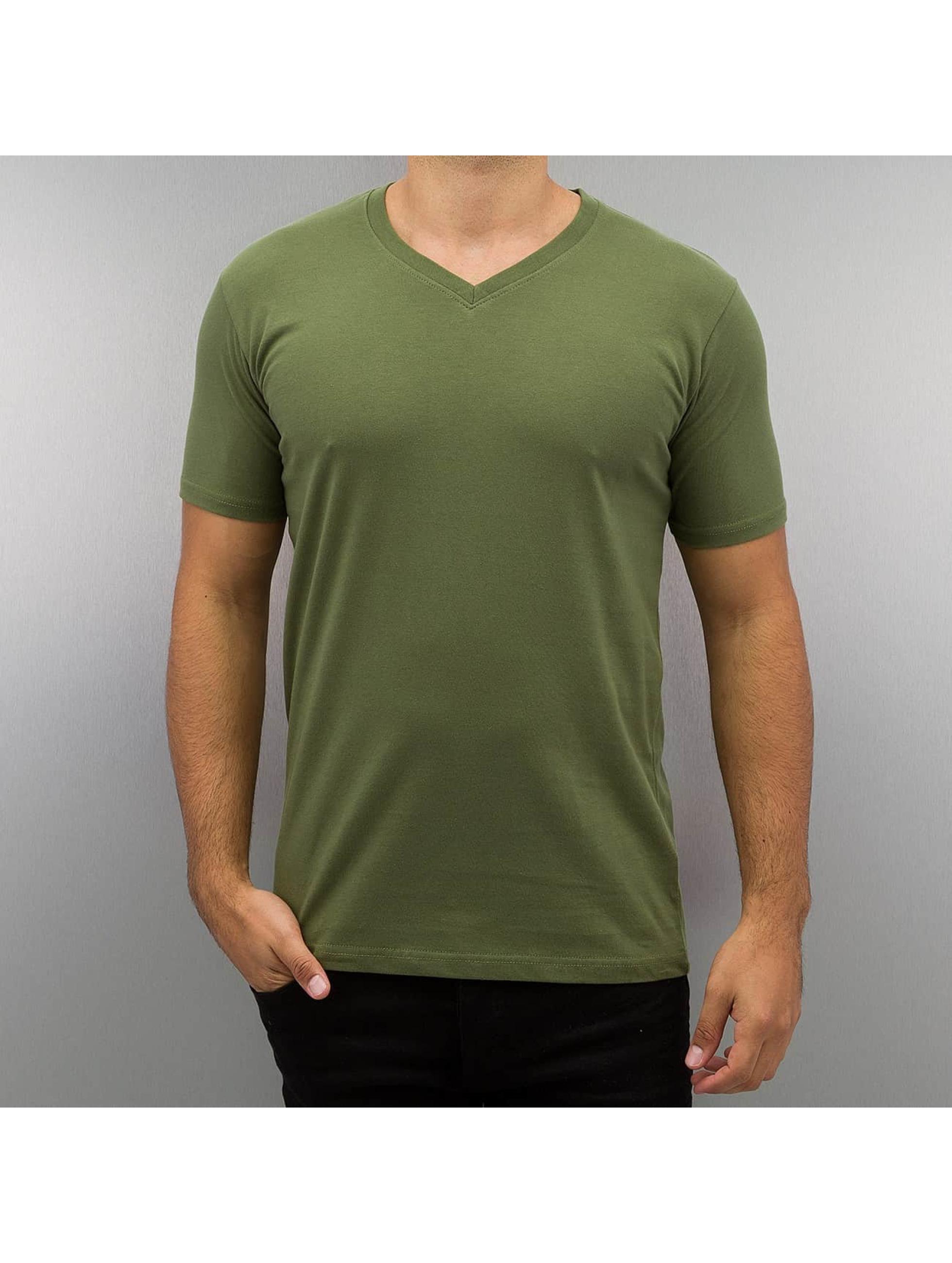 DEF t-shirt Basic olijfgroen