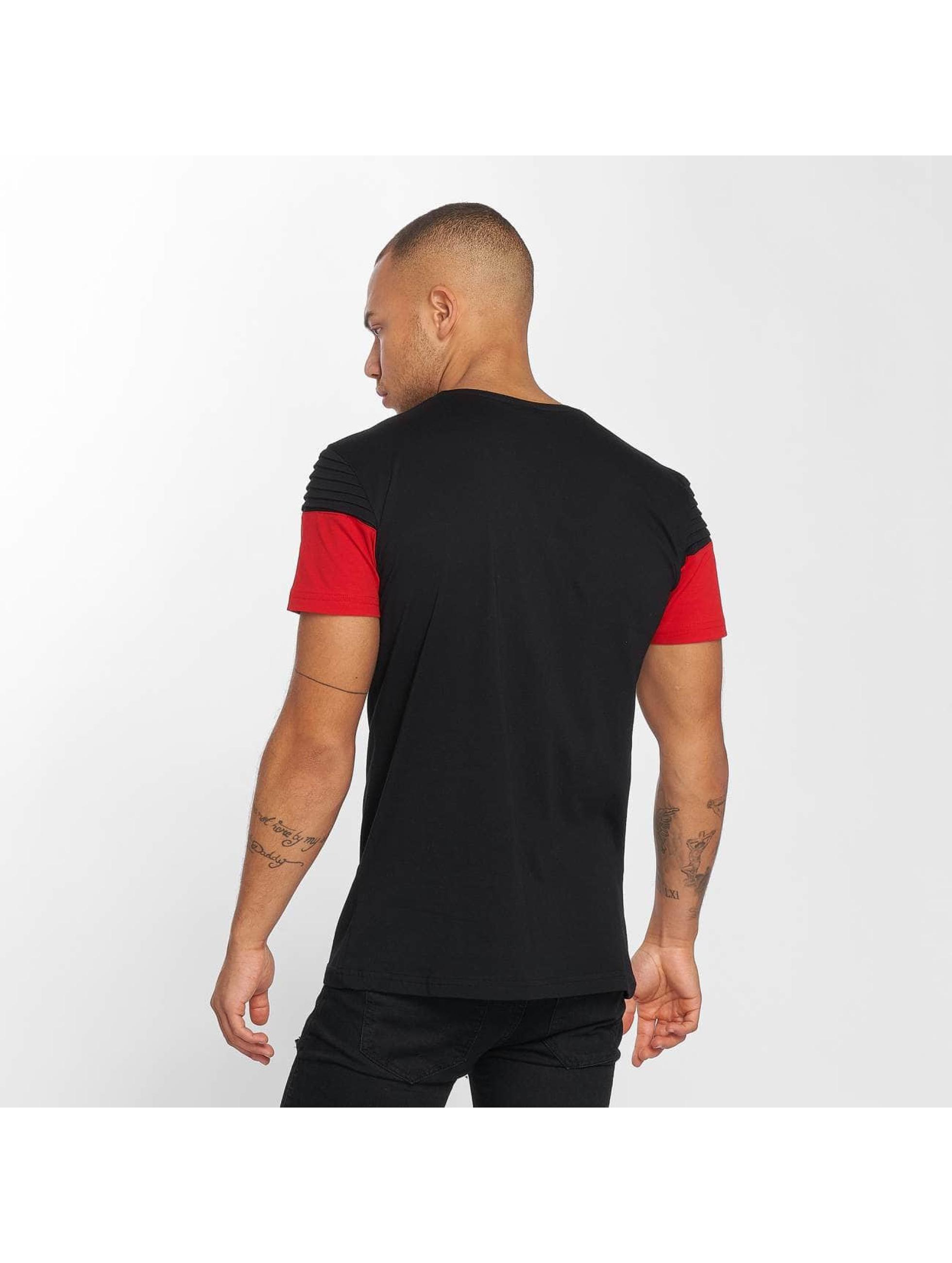 DEF T-Shirt Stripe schwarz