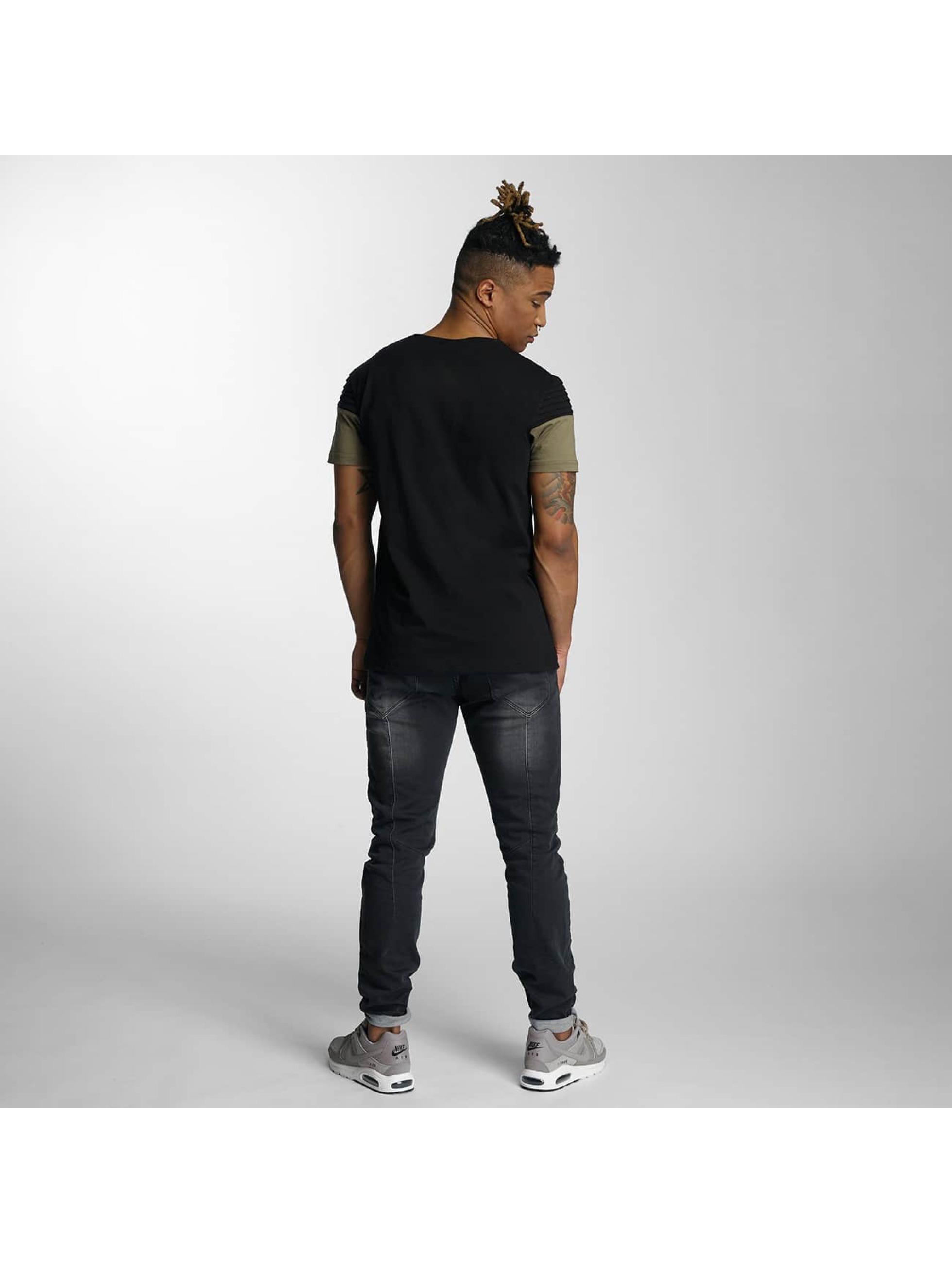 DEF T-Shirty Stripe czarny