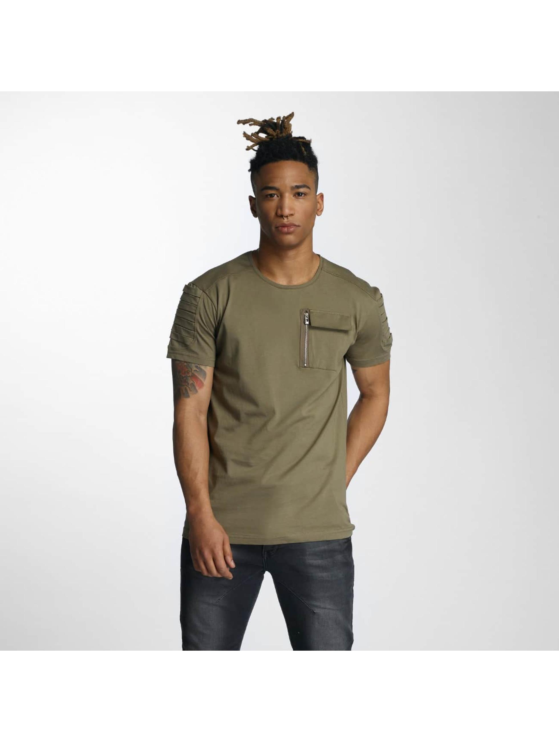 DEF T-Shirty Leats oliwkowy