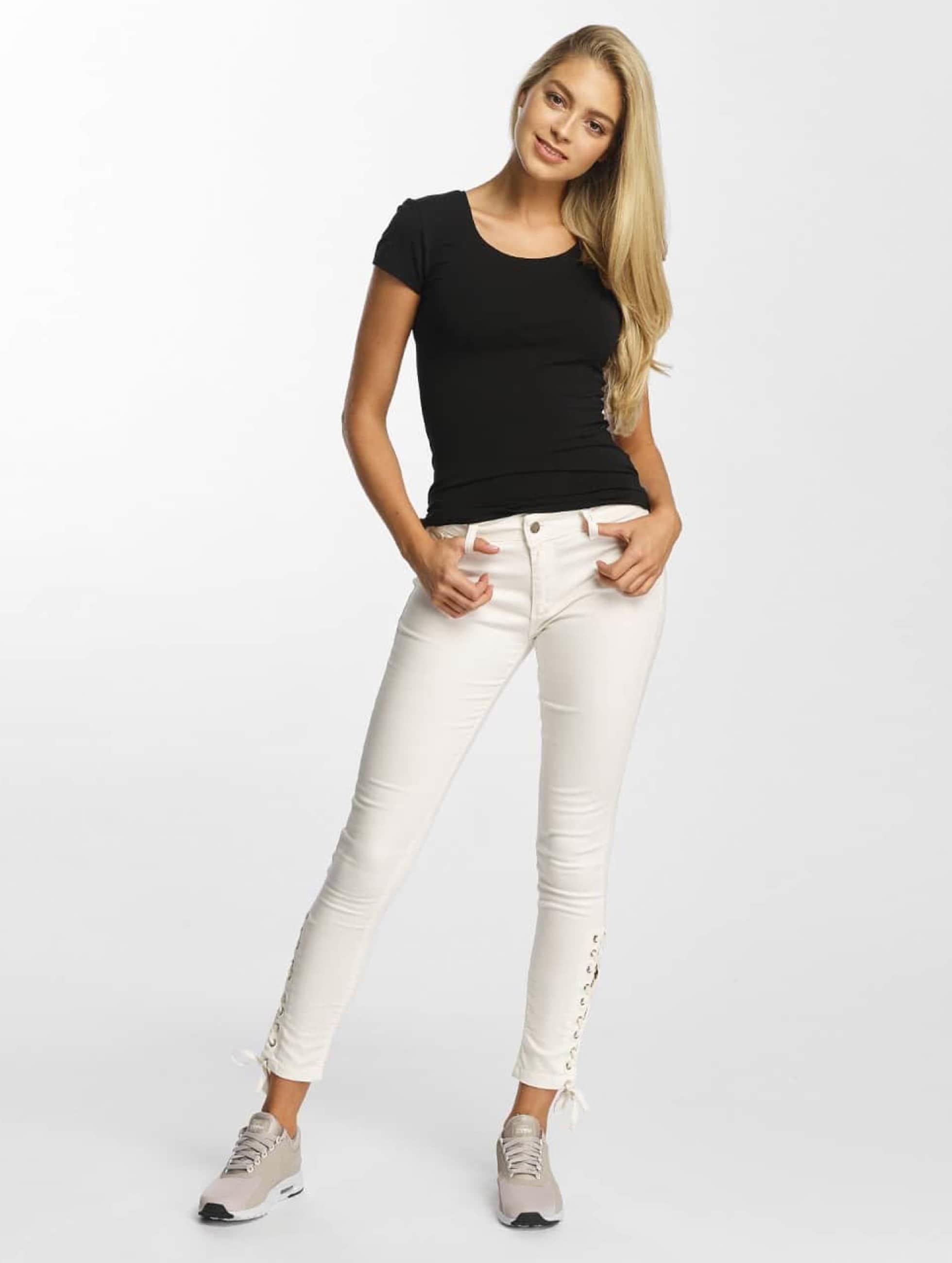 DEF Tynne bukser Strap hvit