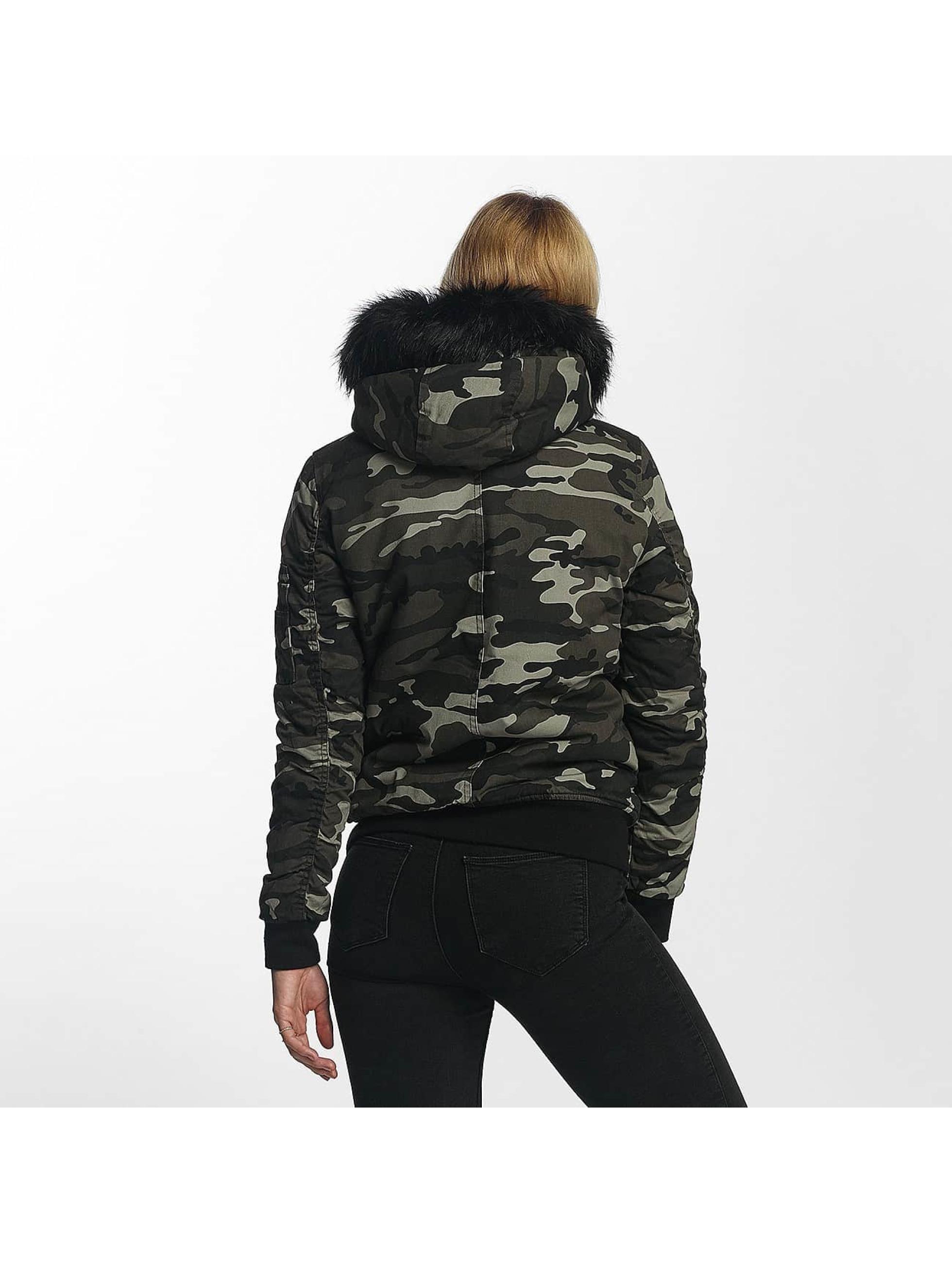 def damen winterjacke bomber in camouflage 351938. Black Bedroom Furniture Sets. Home Design Ideas