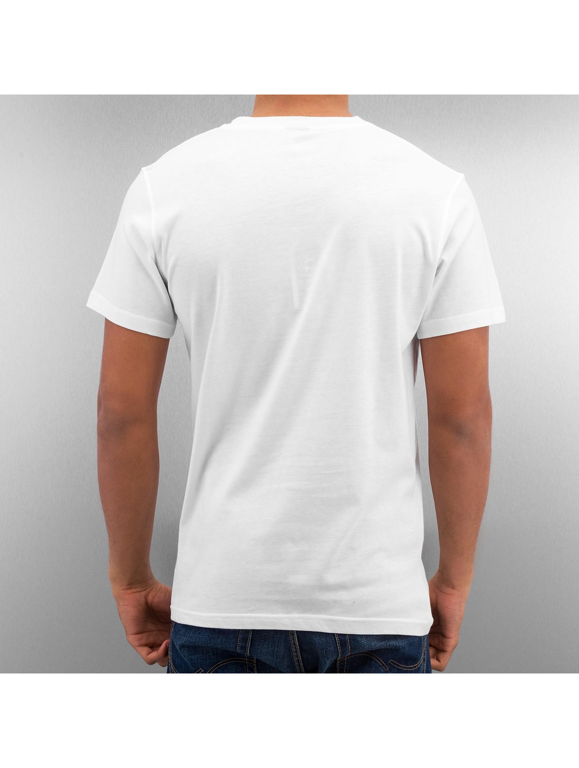 DefShop Футболка Basic V-Neck белый