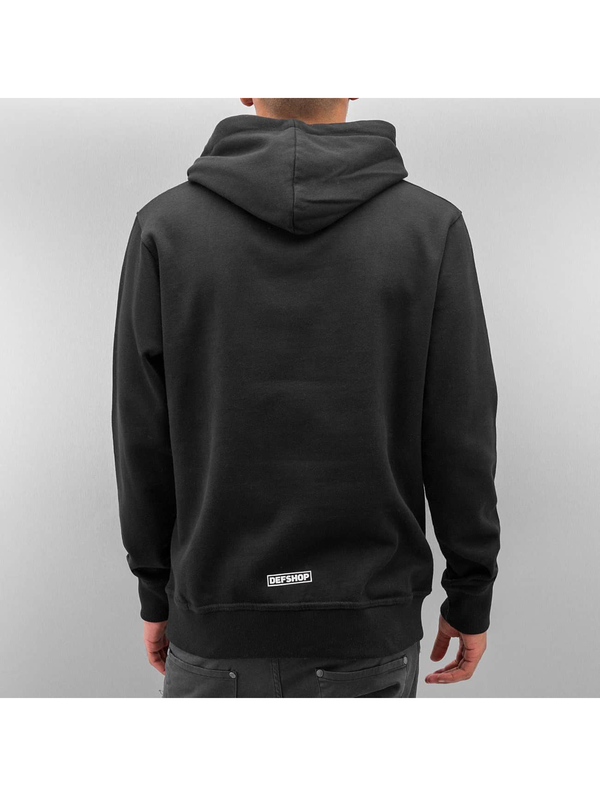 DefShop Felpa con cappuccio Logo nero