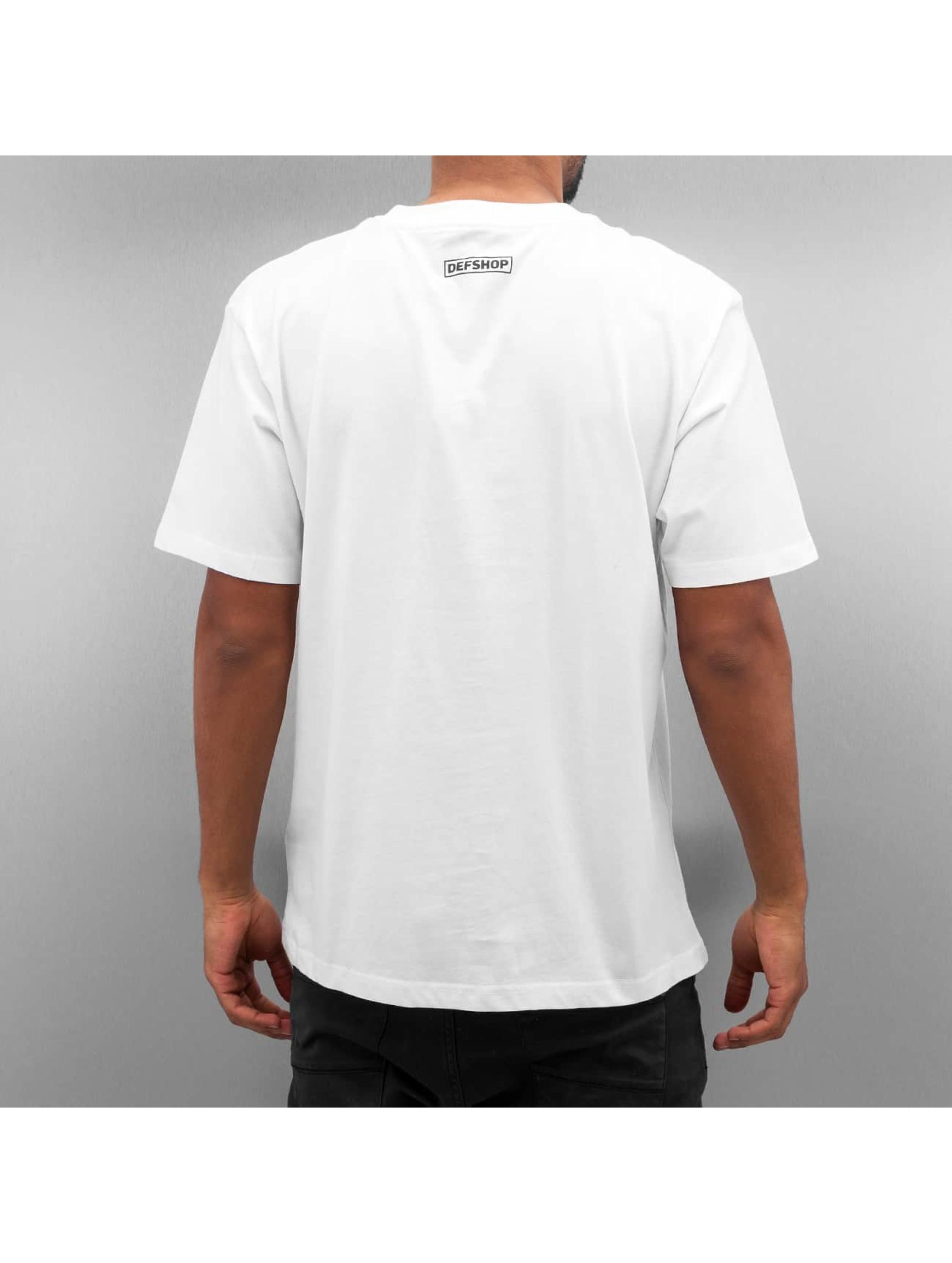 DefShop T-Shirt Logo blanc