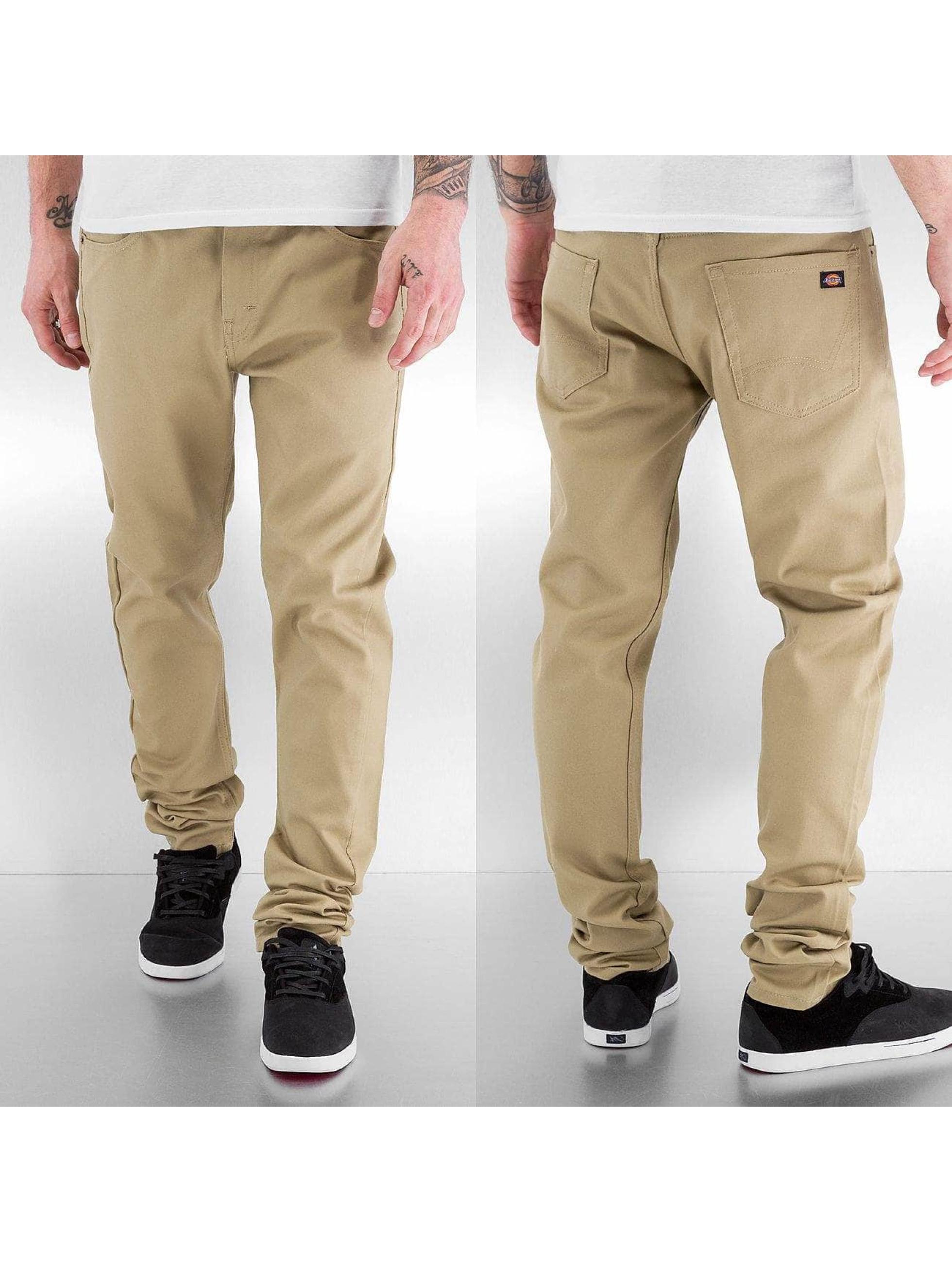 Dickies Облегающие джинсы Slim Skinny бежевый