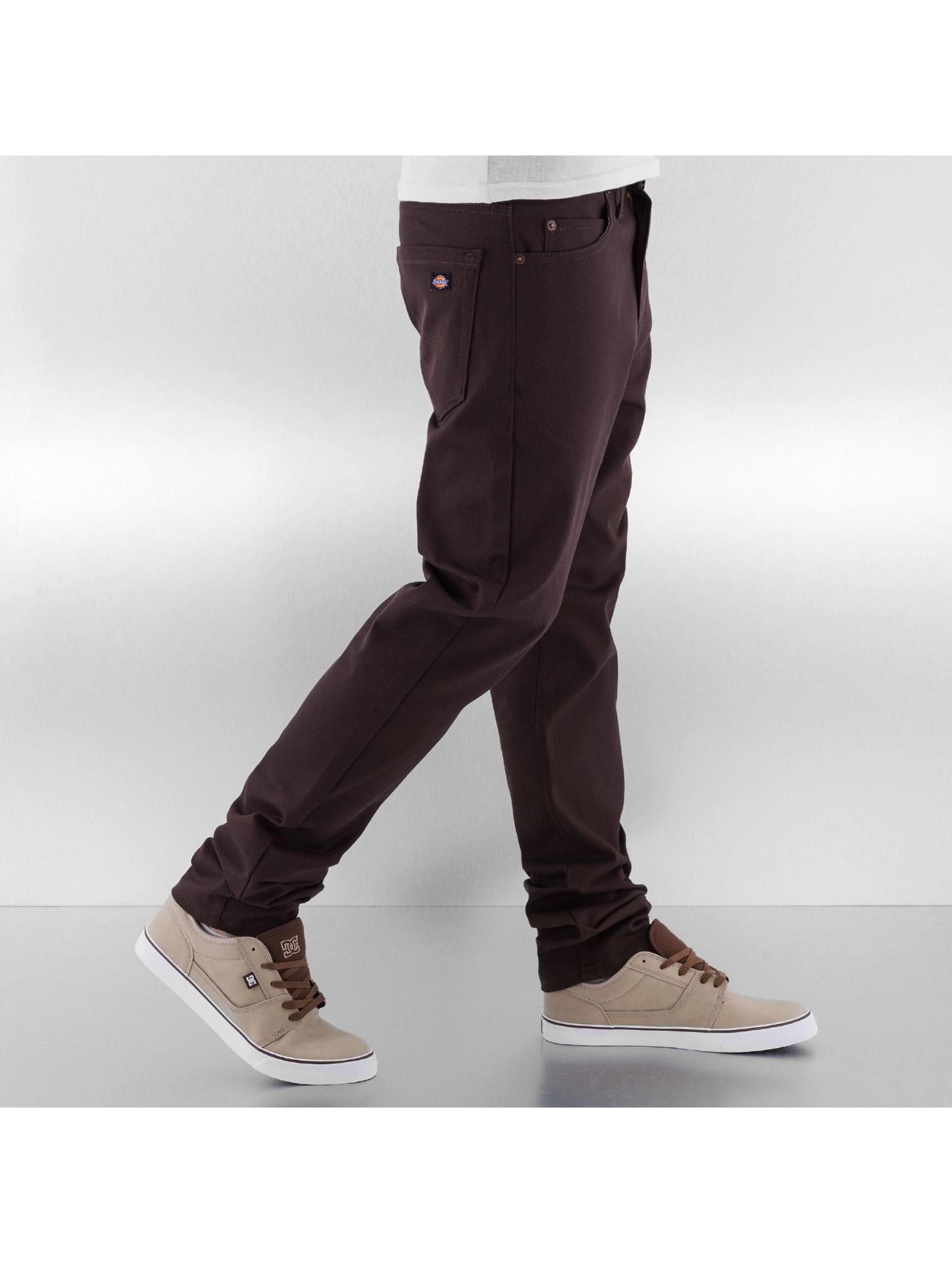 Dickies Облегающие джинсы Slim коричневый