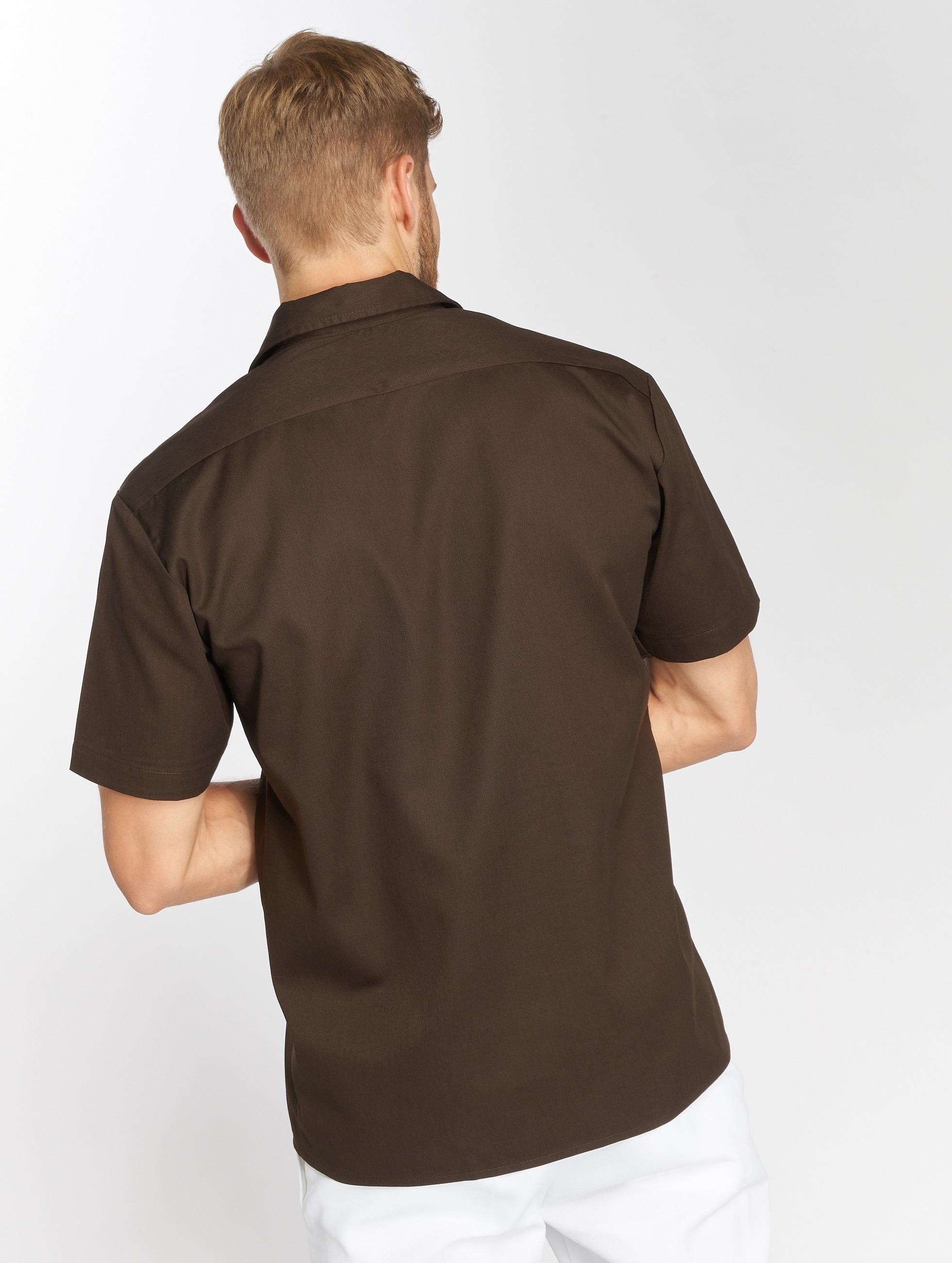 Dickies Рубашка Shorts Sleeve Work коричневый