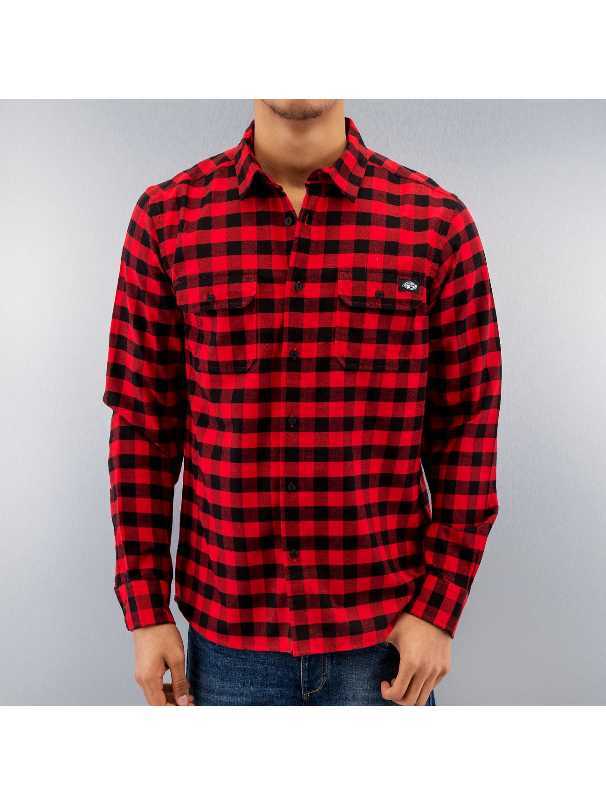 Dickies Рубашка Jacksonville красный