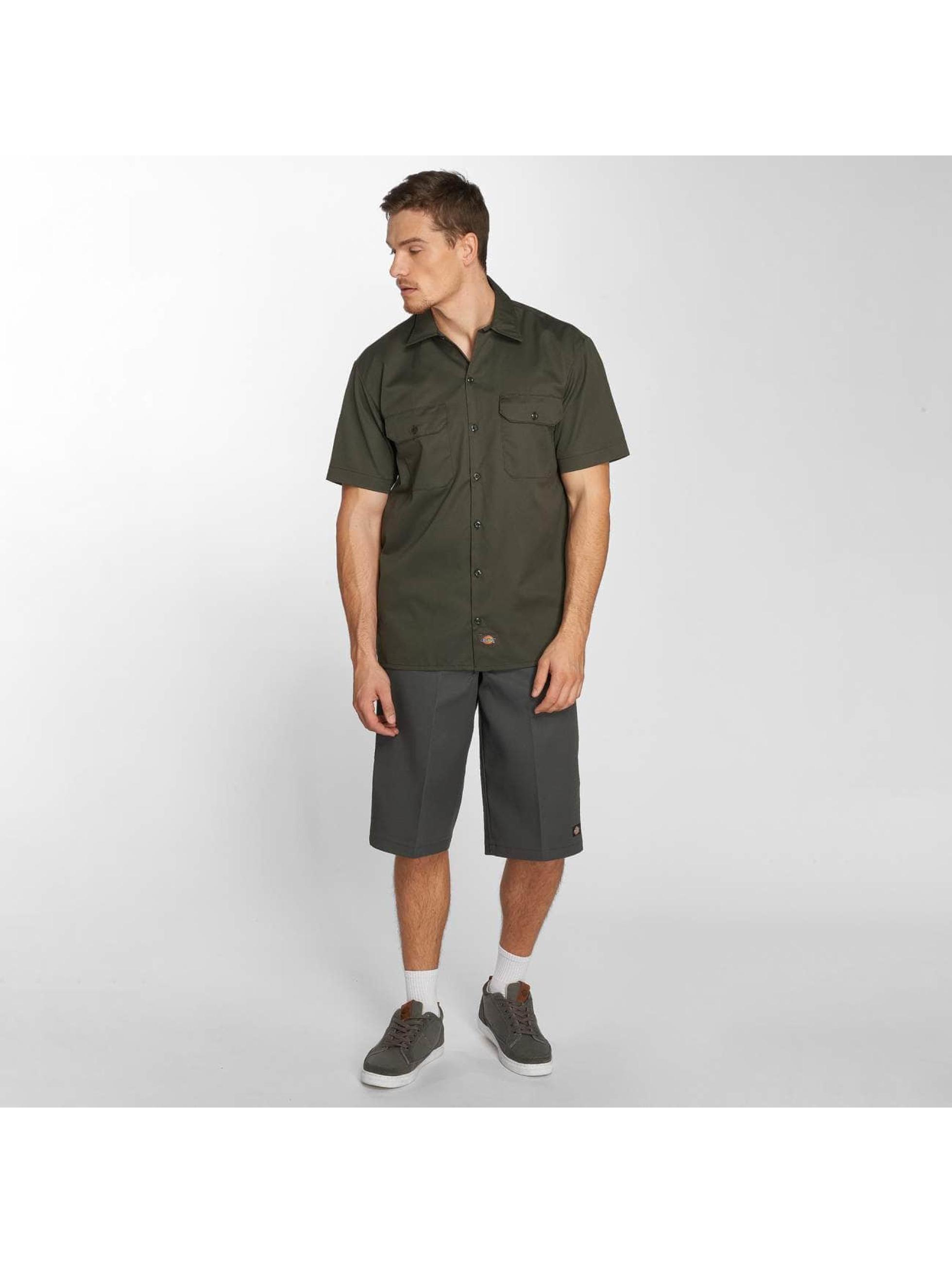 Dickies Рубашка Shorts Sleeve Work оливковый