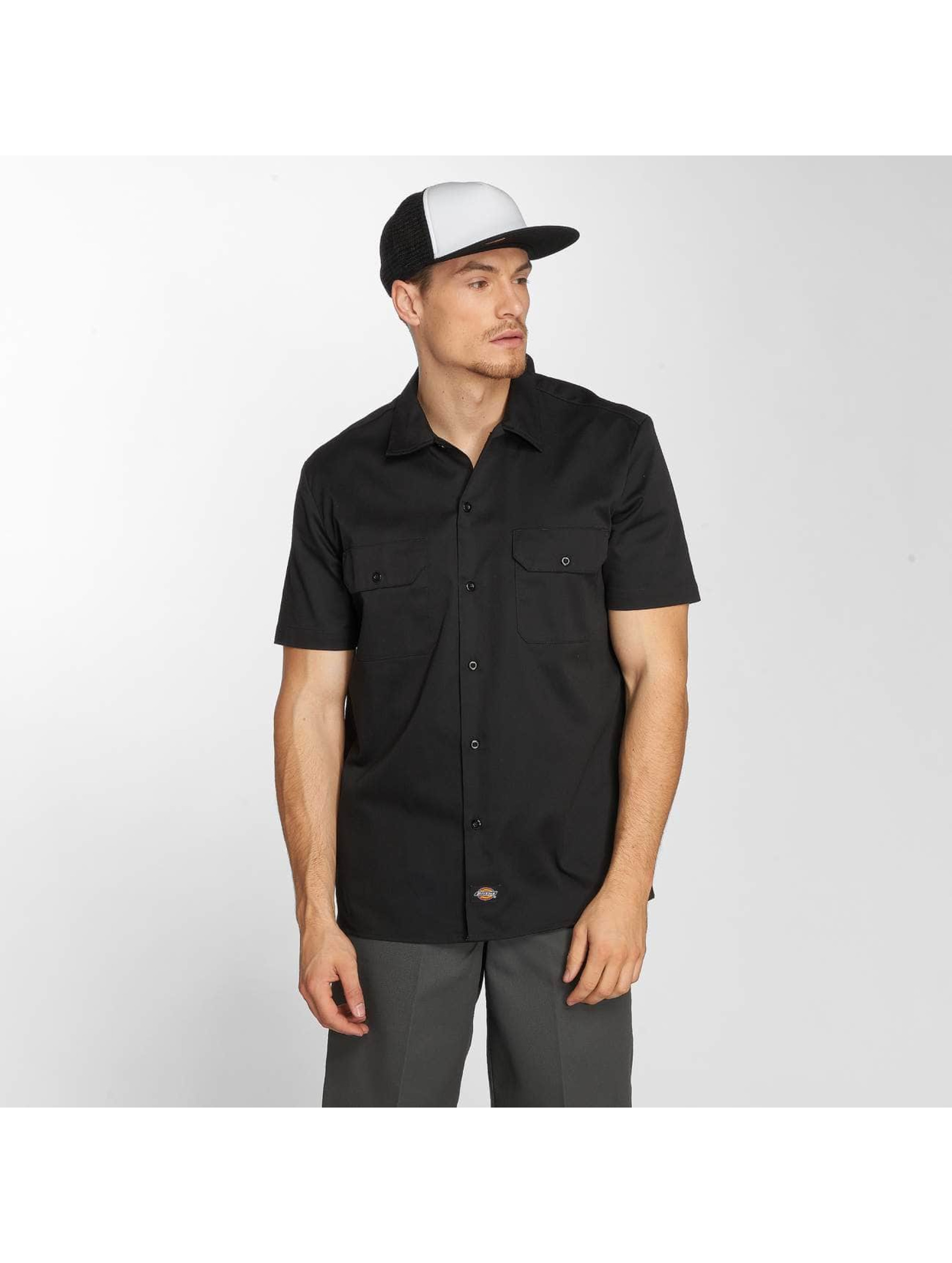 Dickies Рубашка Short Sleeve Slim Work черный