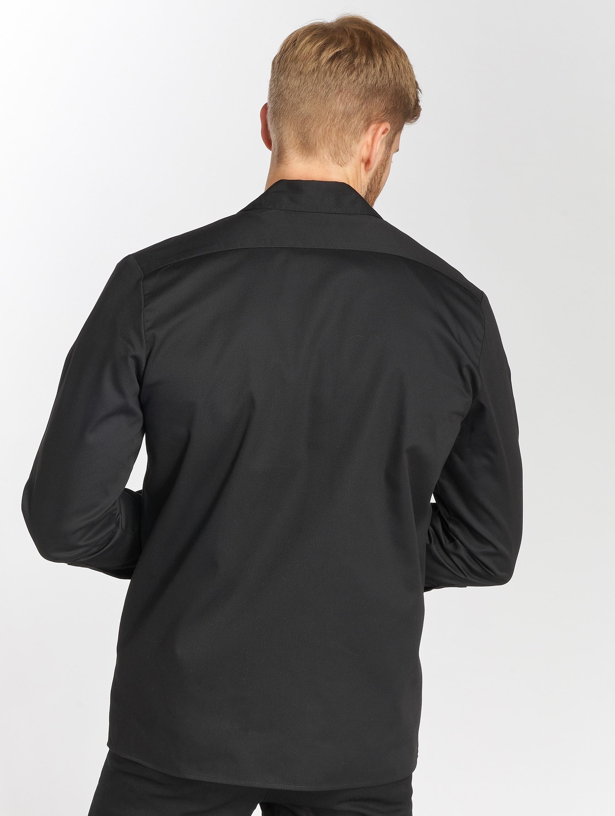 Dickies Рубашка Longsleeve Slim Work черный