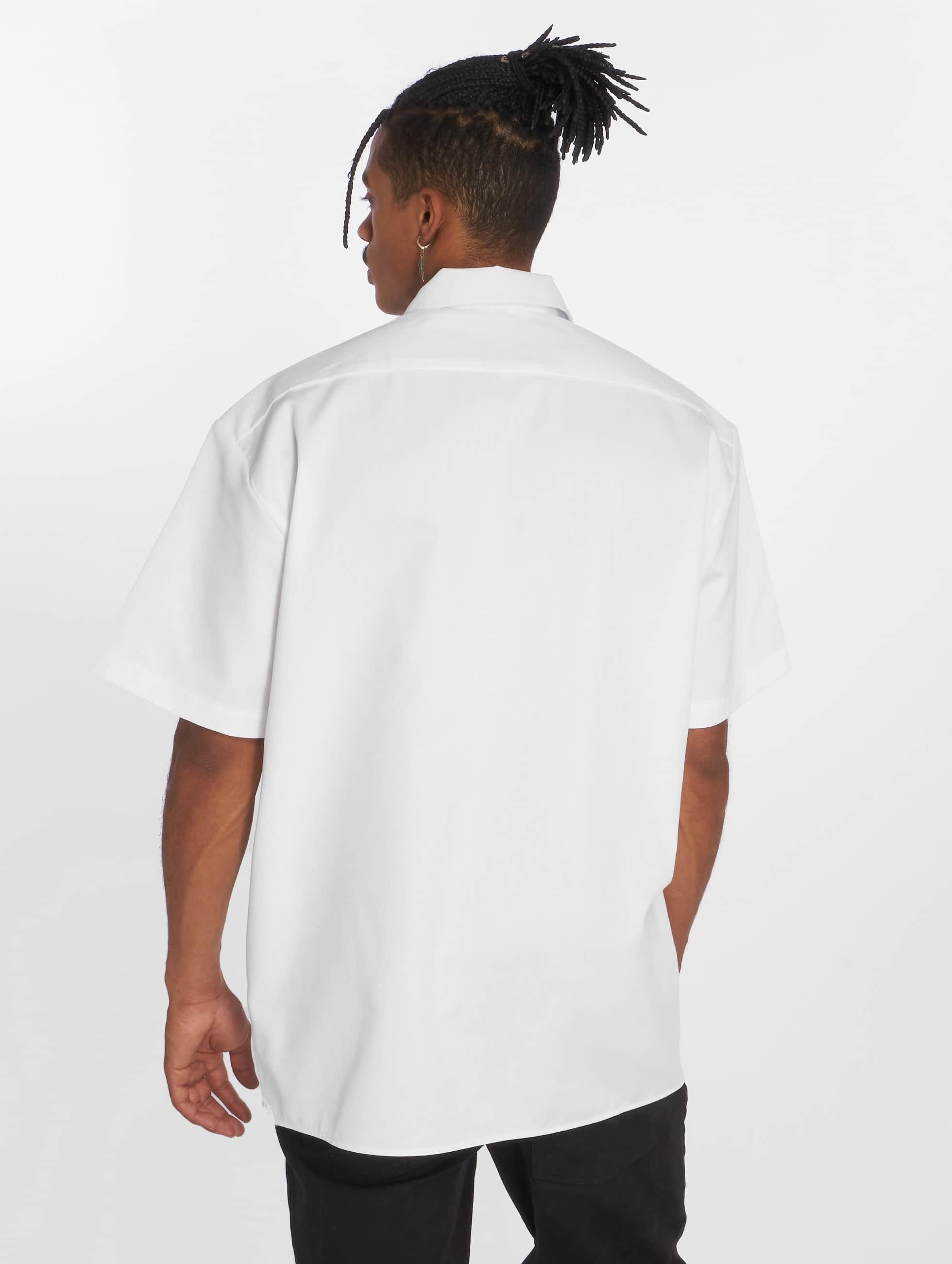 Dickies Chemise Shorts Sleeve Work blanc