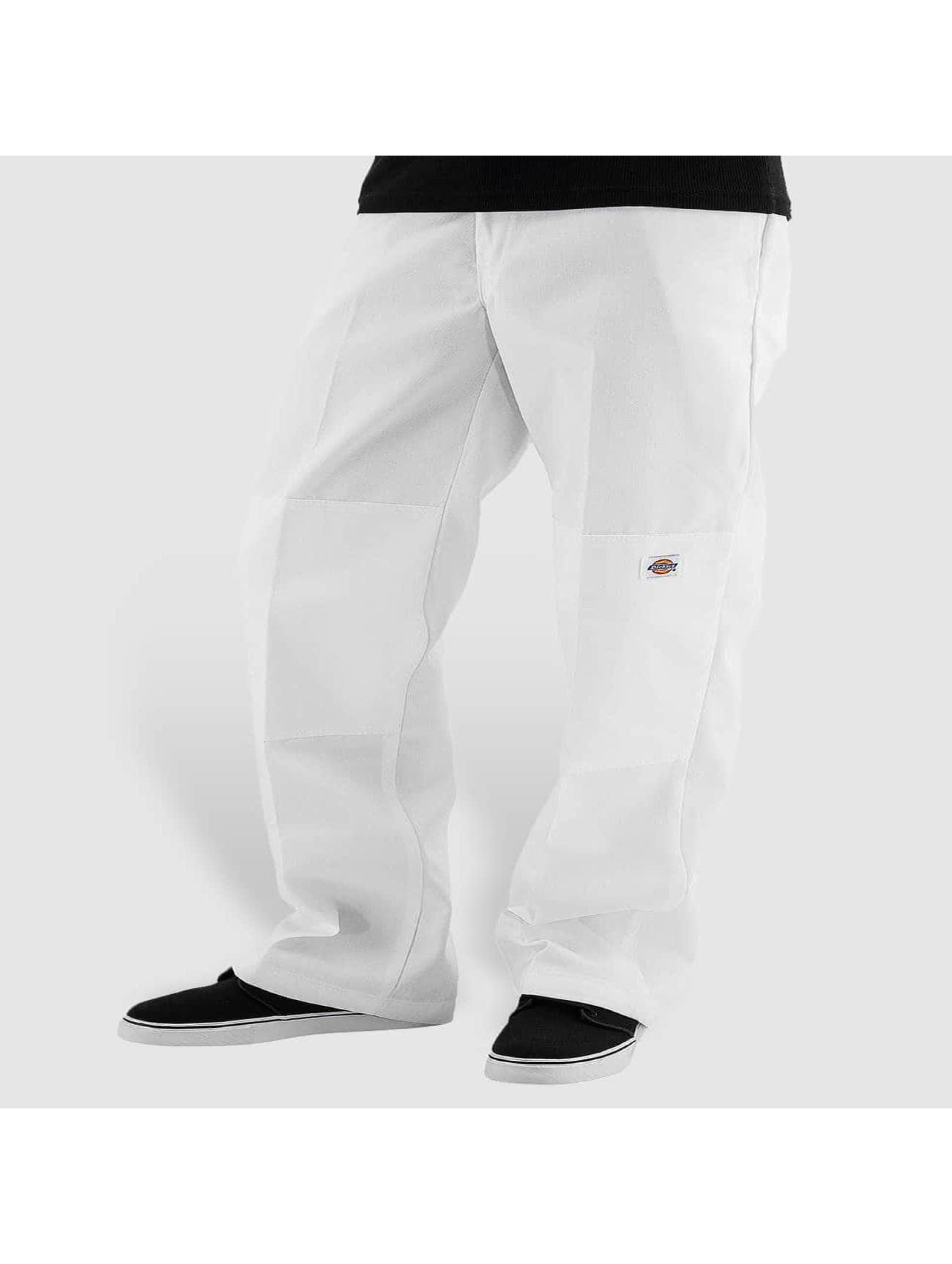 Dickies Chinot/Kangashousut Double Knee Work valkoinen