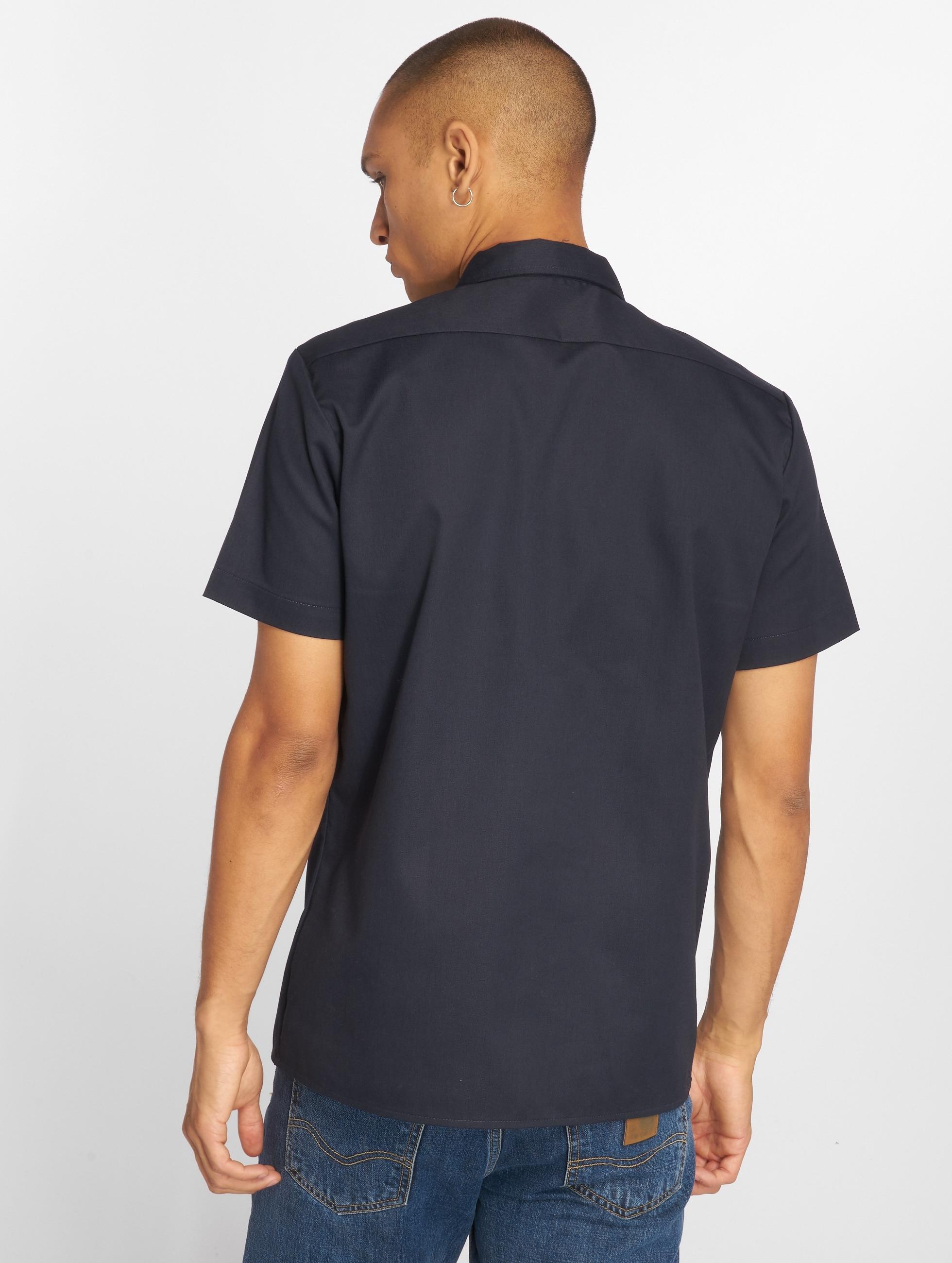 Dickies Kauluspaidat Short Sleeve Slim Work sininen
