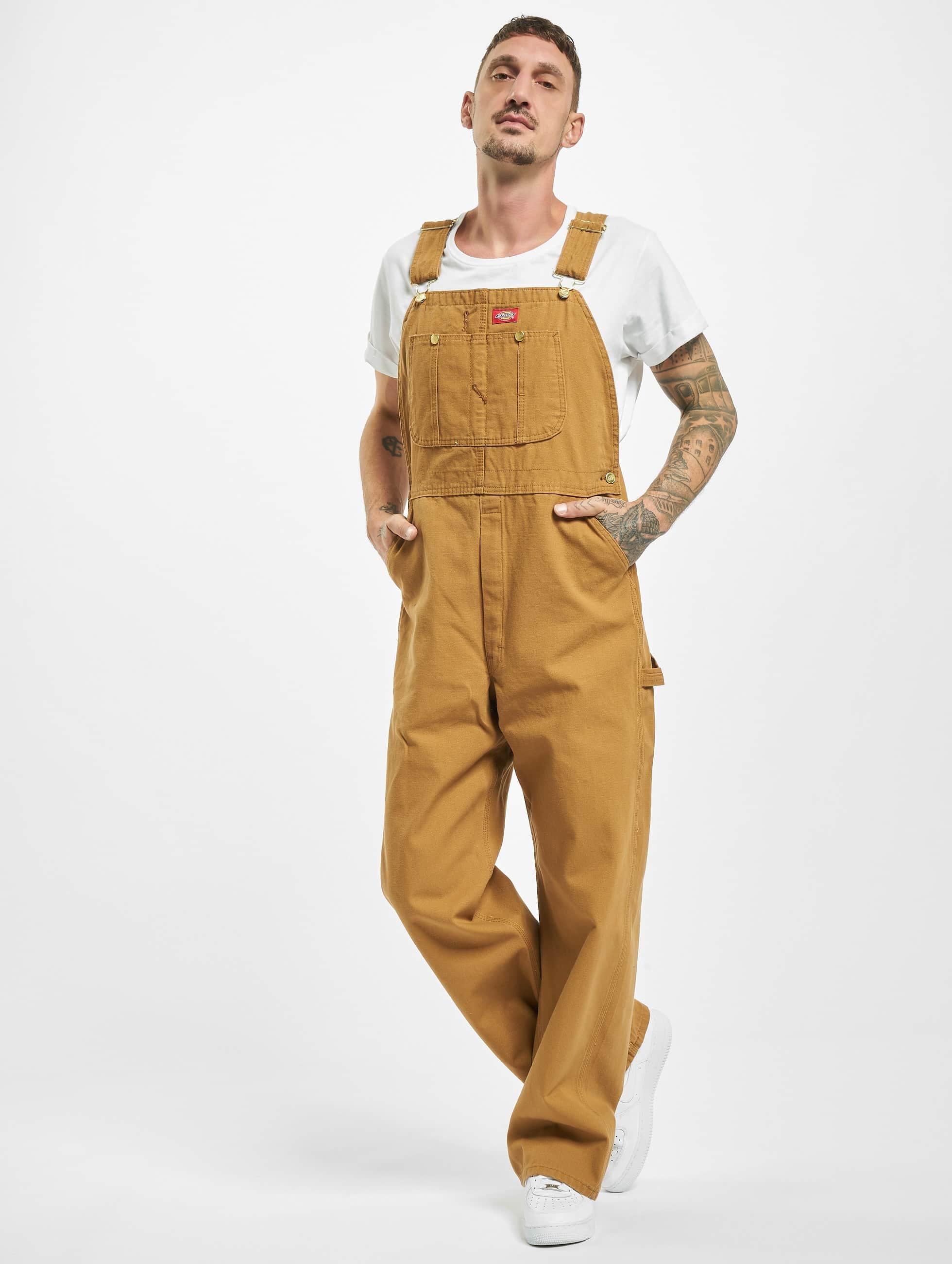 Dickies Loose fit jeans Bib Overall Rinsed bruin