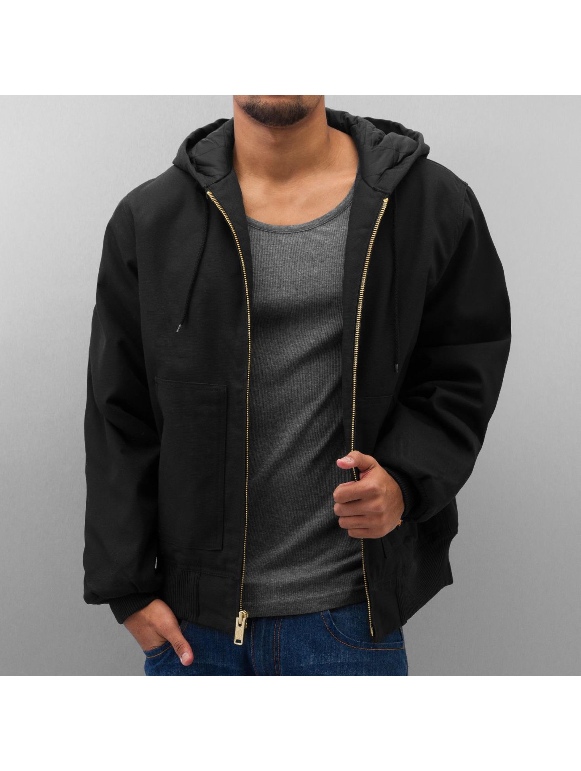 Dickies Manteau hiver Rigid Duck Hooded noir