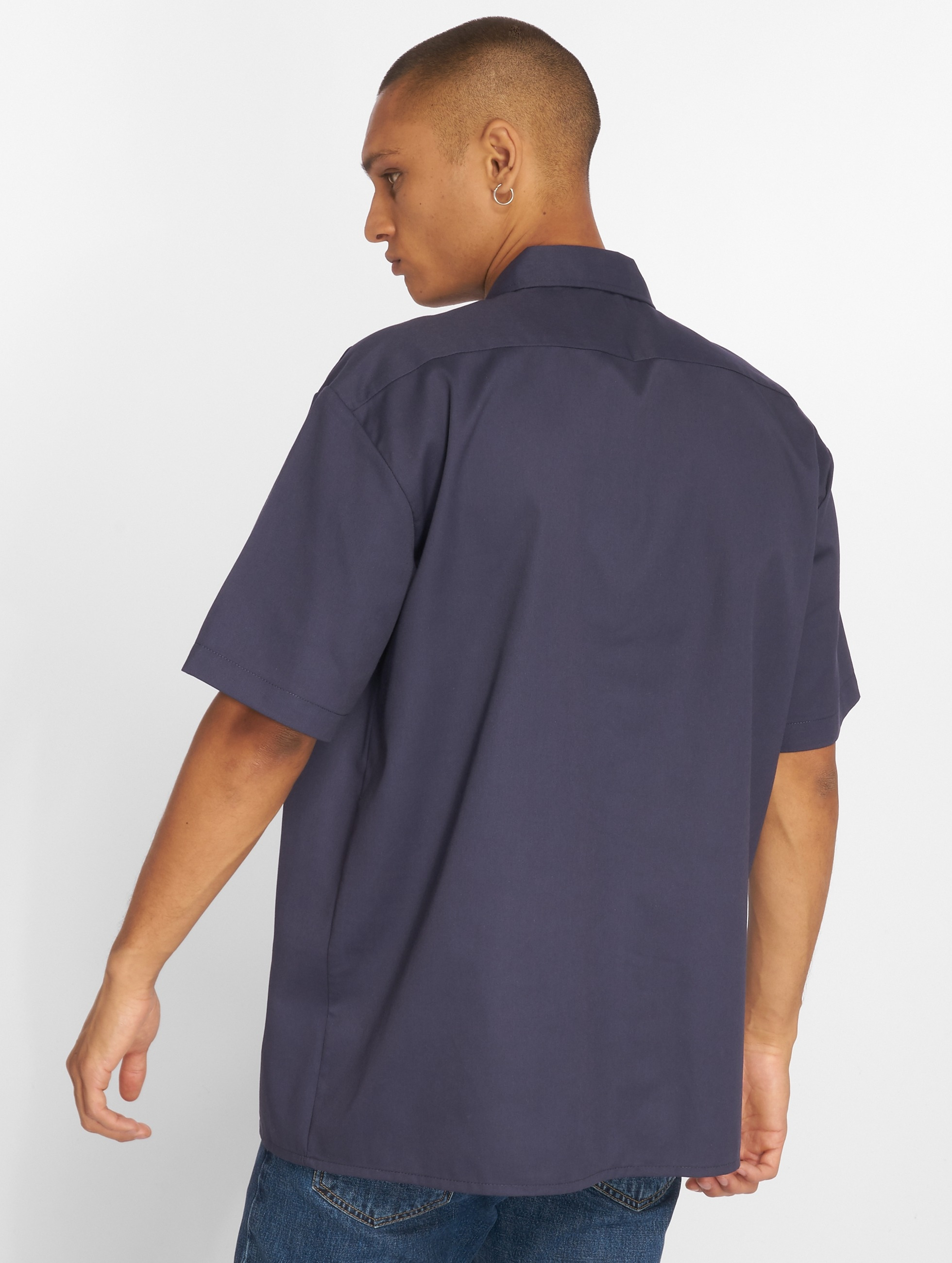 Dickies overhemd Shorts Sleeve Work blauw