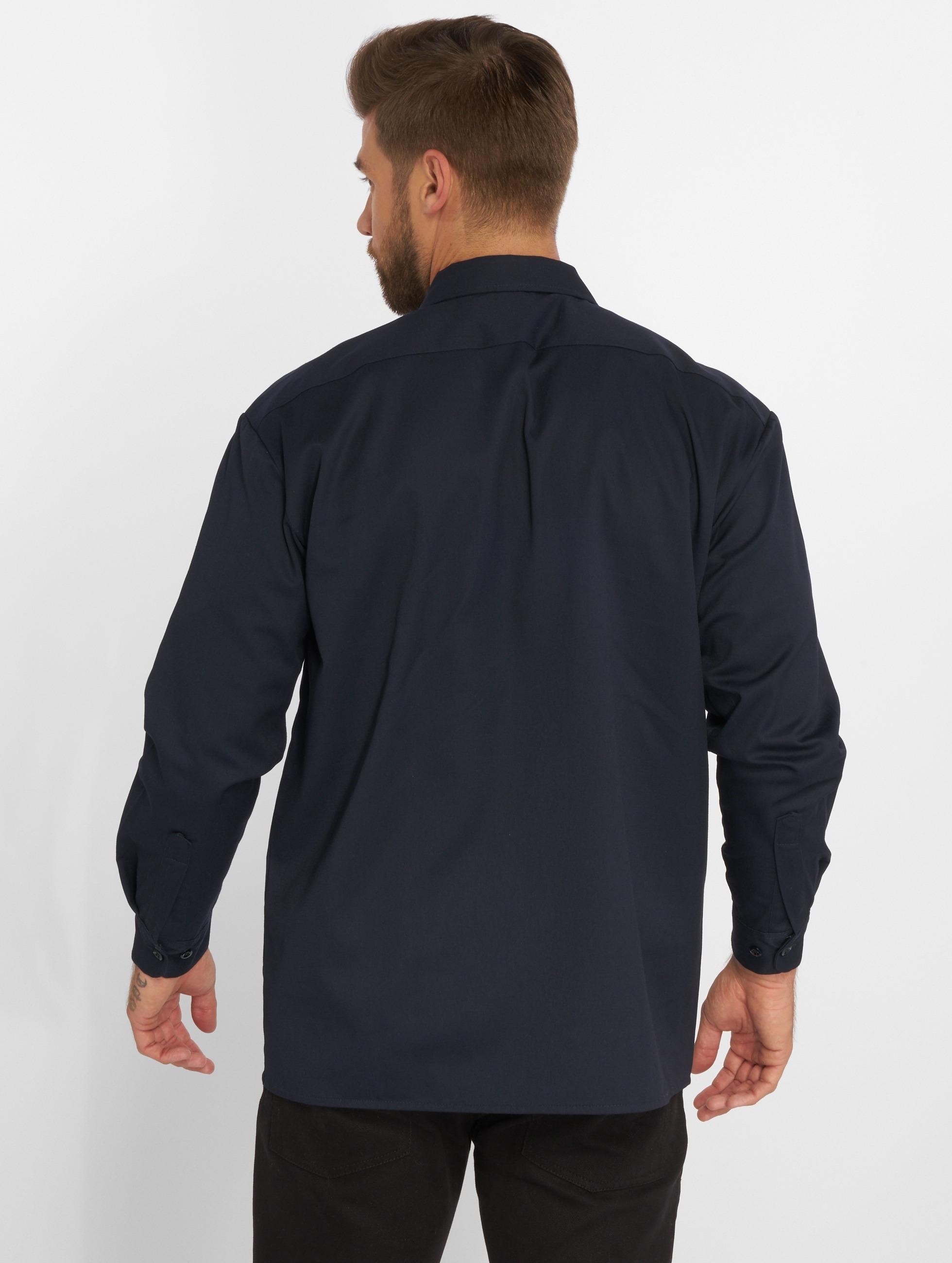 Dickies overhemd Longsleeve Work blauw