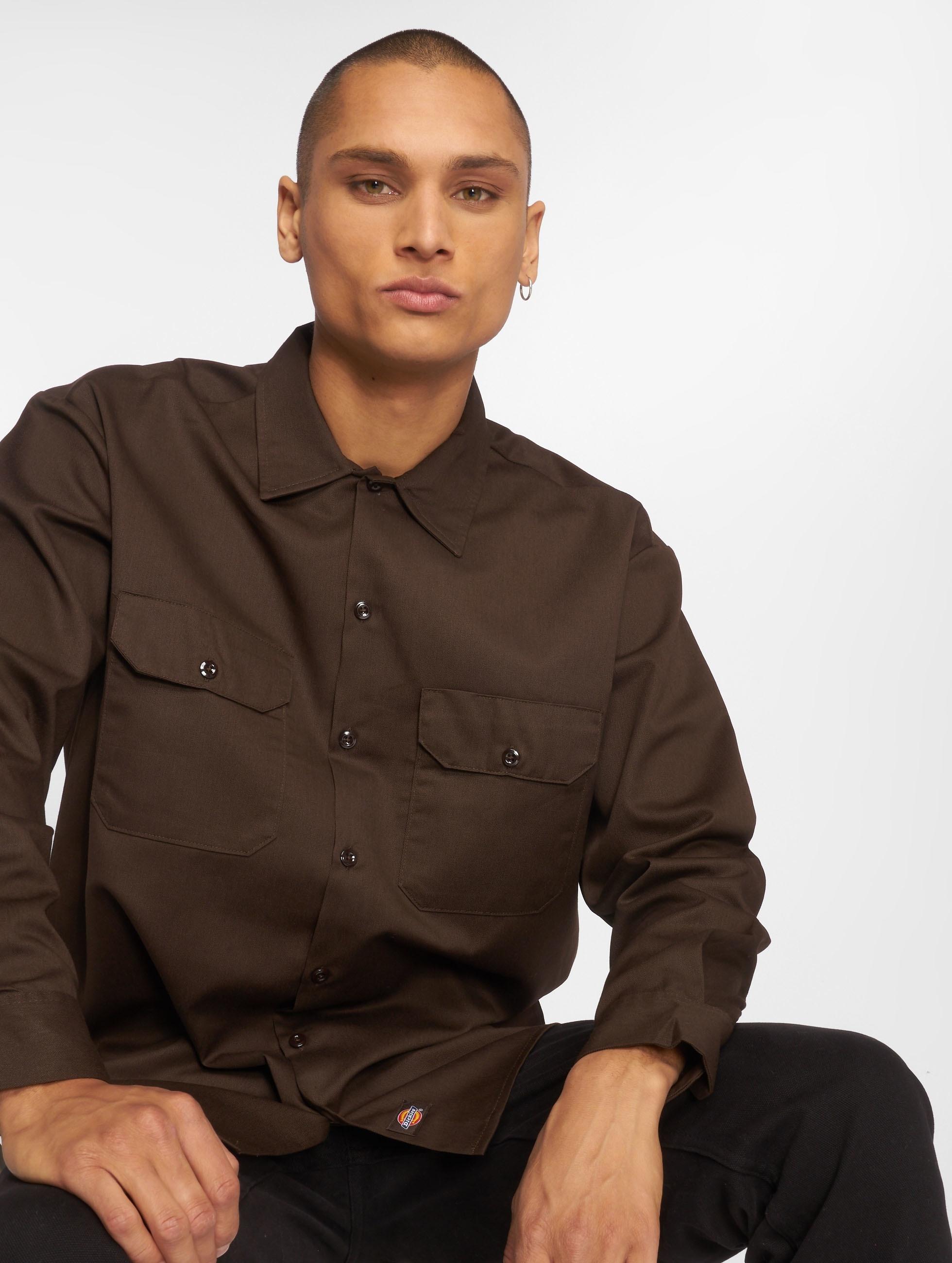 Dickies overhemd Work bruin