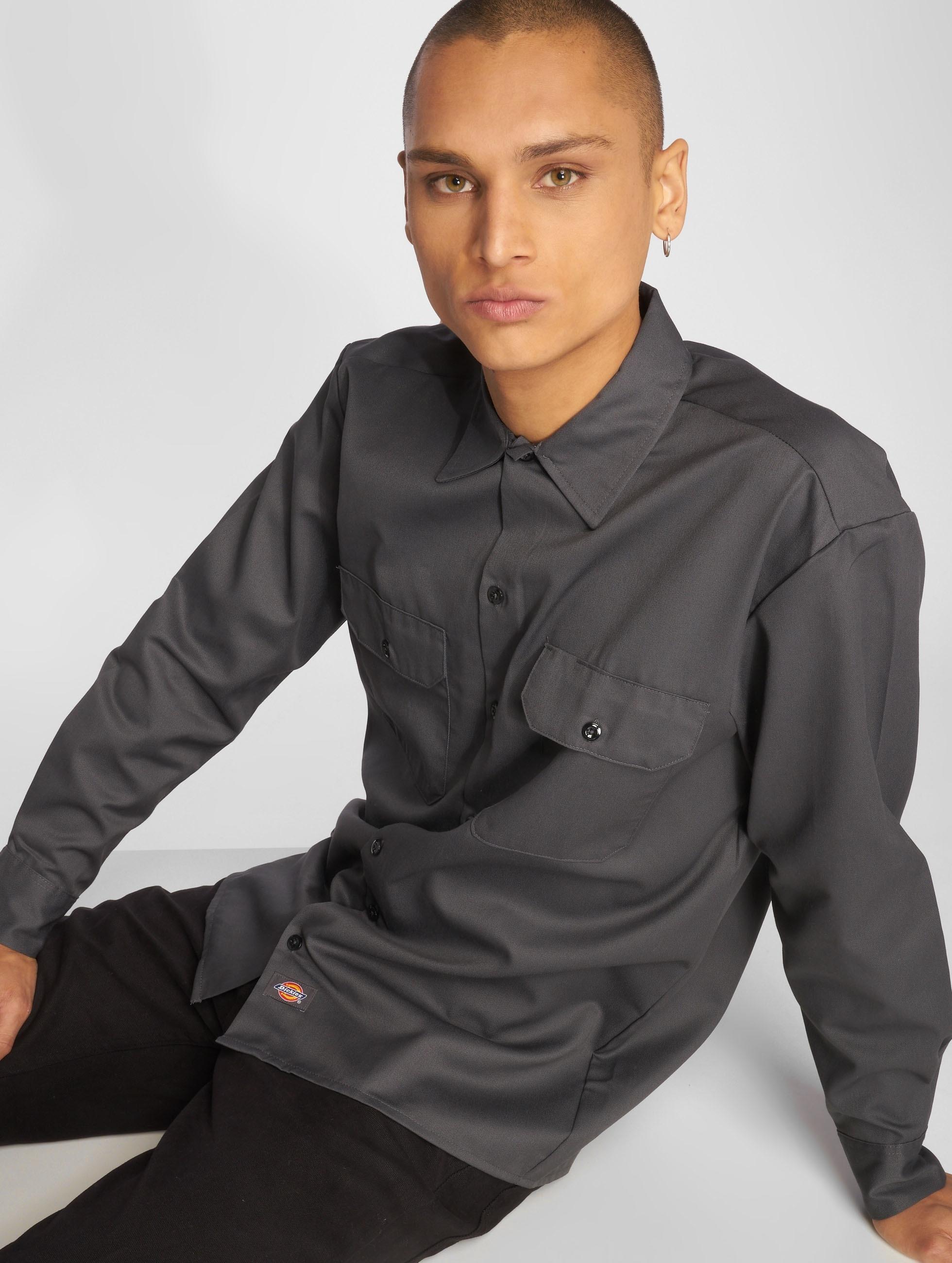 Dickies overhemd Longsleeve Work grijs