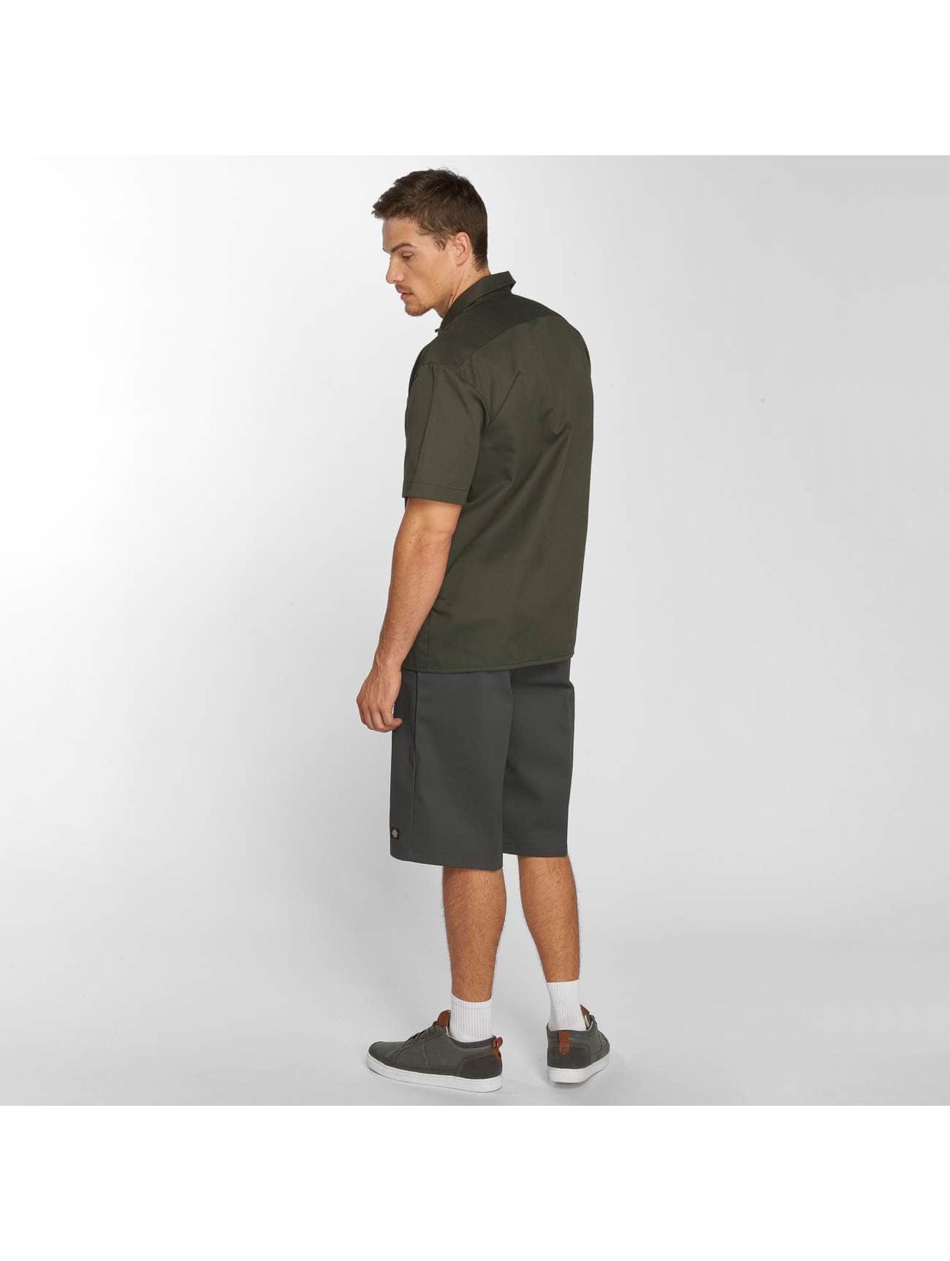 Dickies overhemd Shorts Sleeve Work olijfgroen