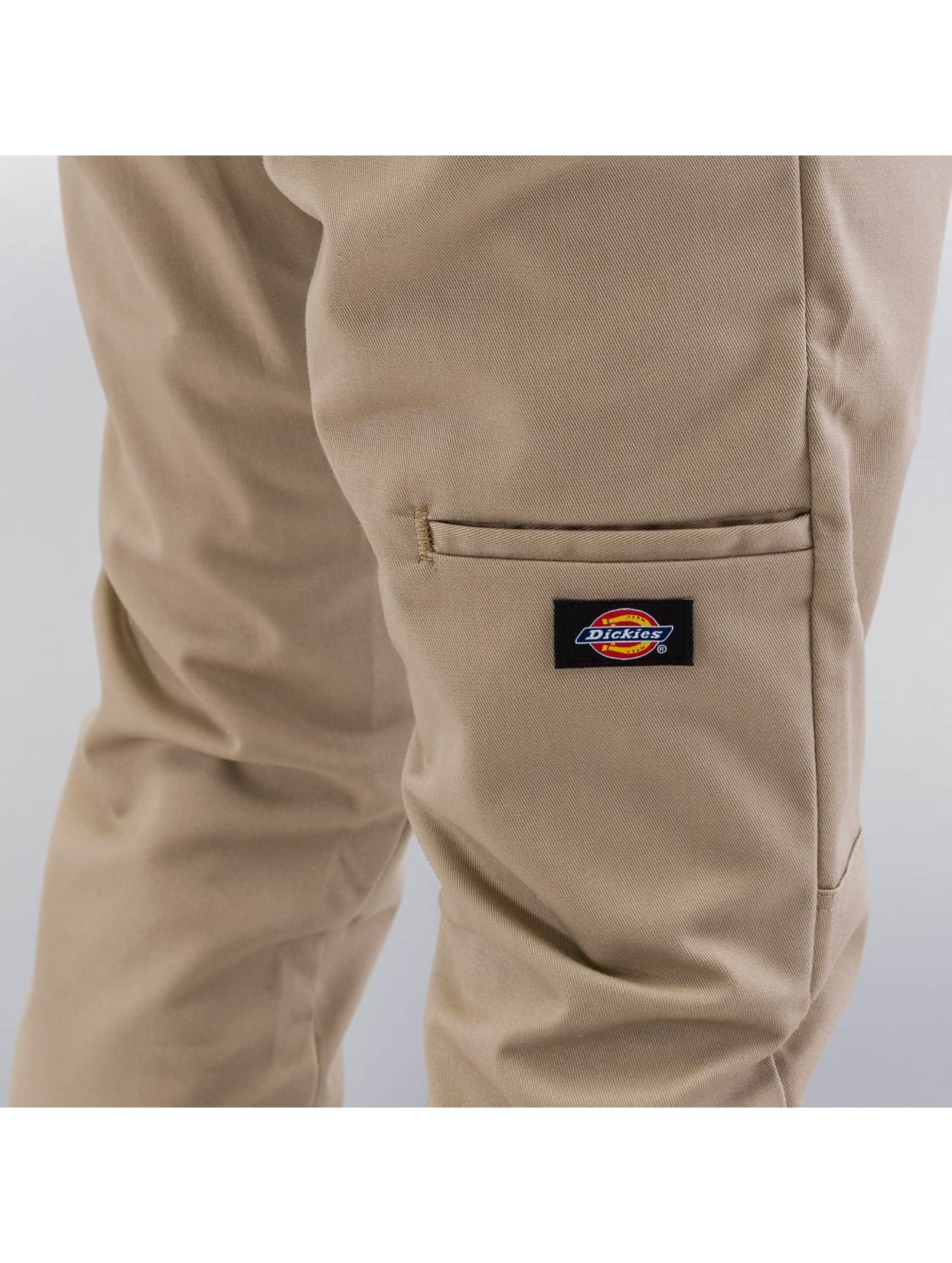 Dickies Spodnie wizytowe Skinny Fit Double Knee bezowy
