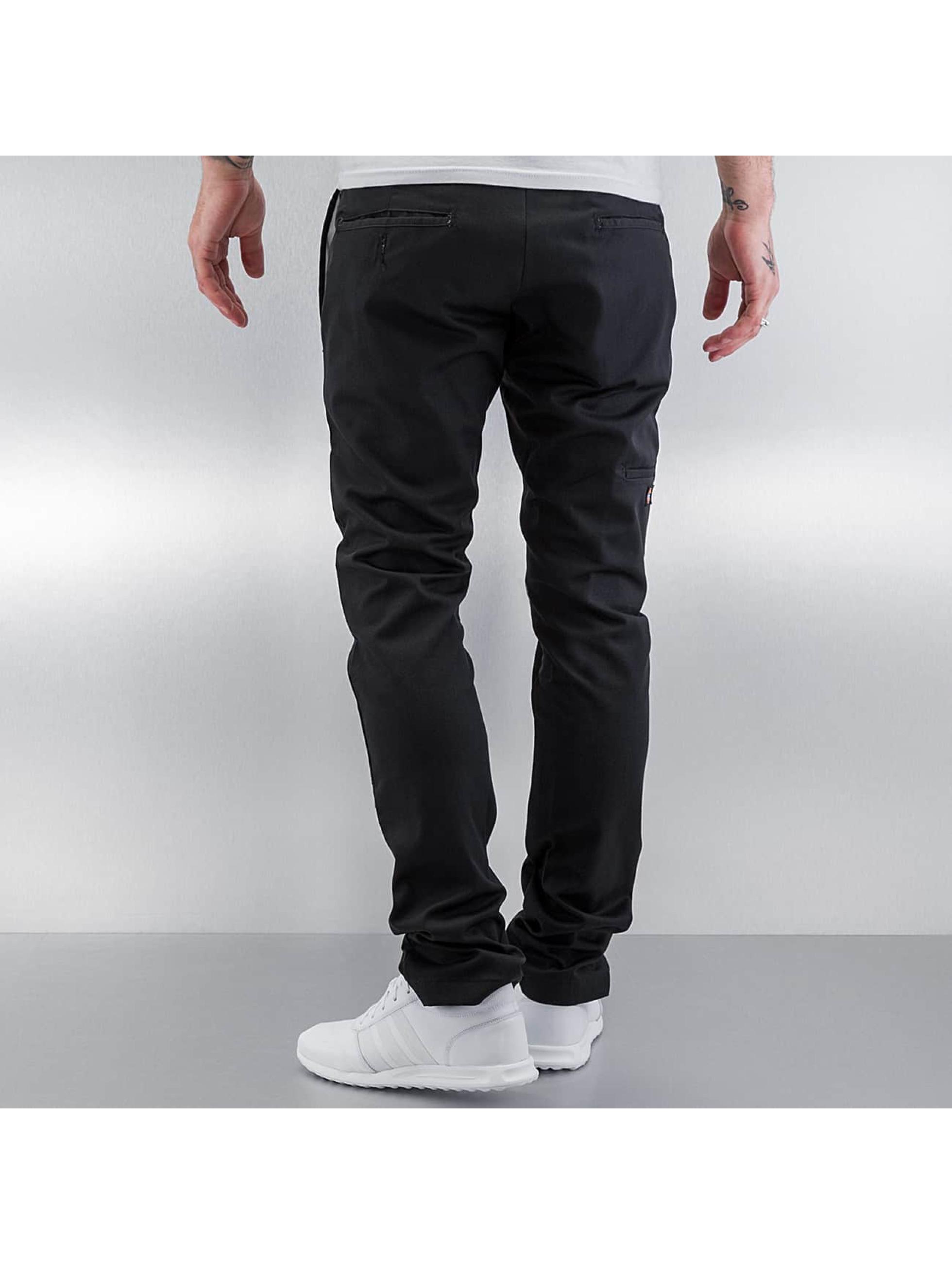 Dickies Spodnie wizytowe Skinny Fit Double Knee czarny