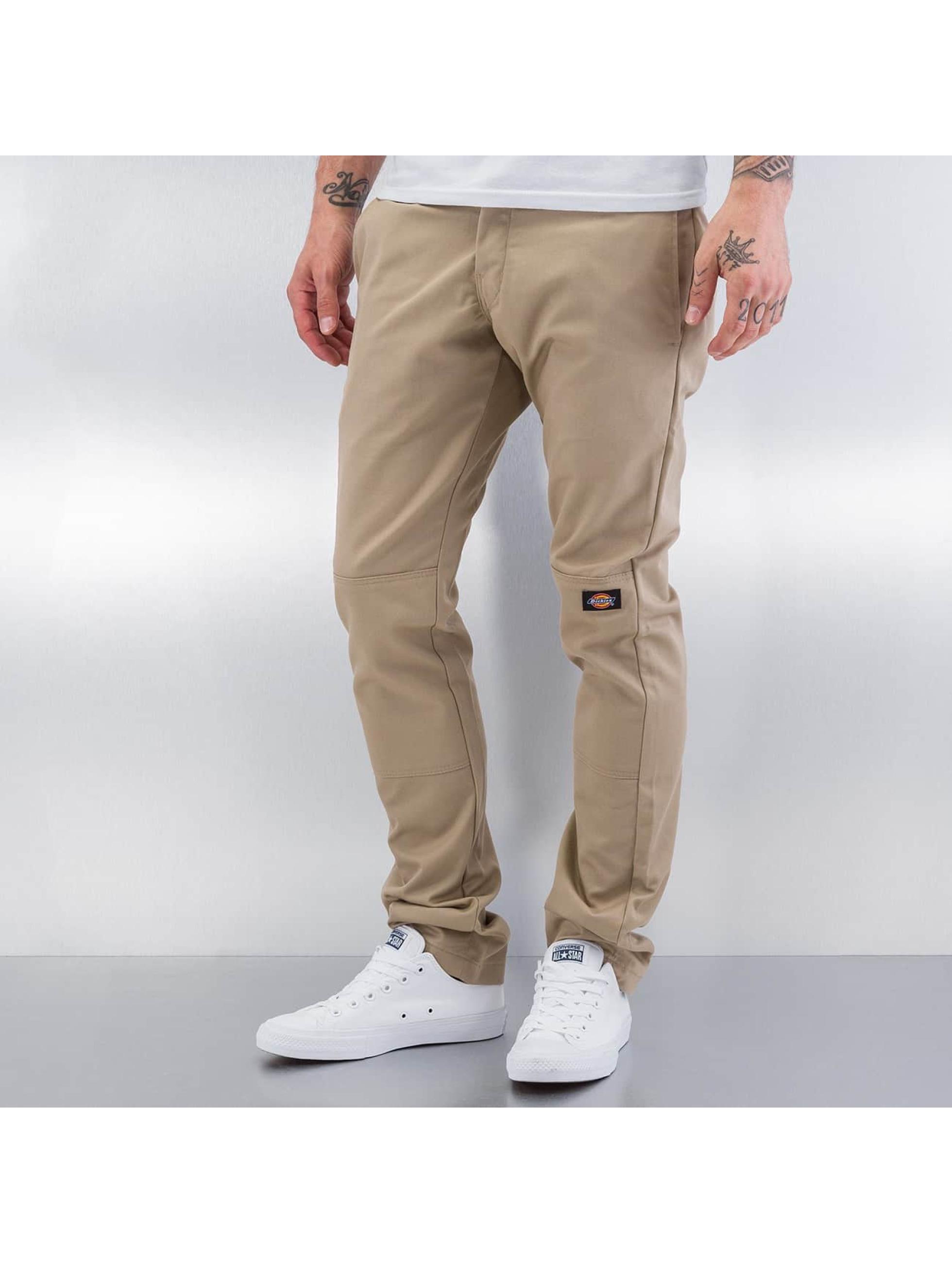 Dickies Stoffbukser Skinny Fit Double Knee beige