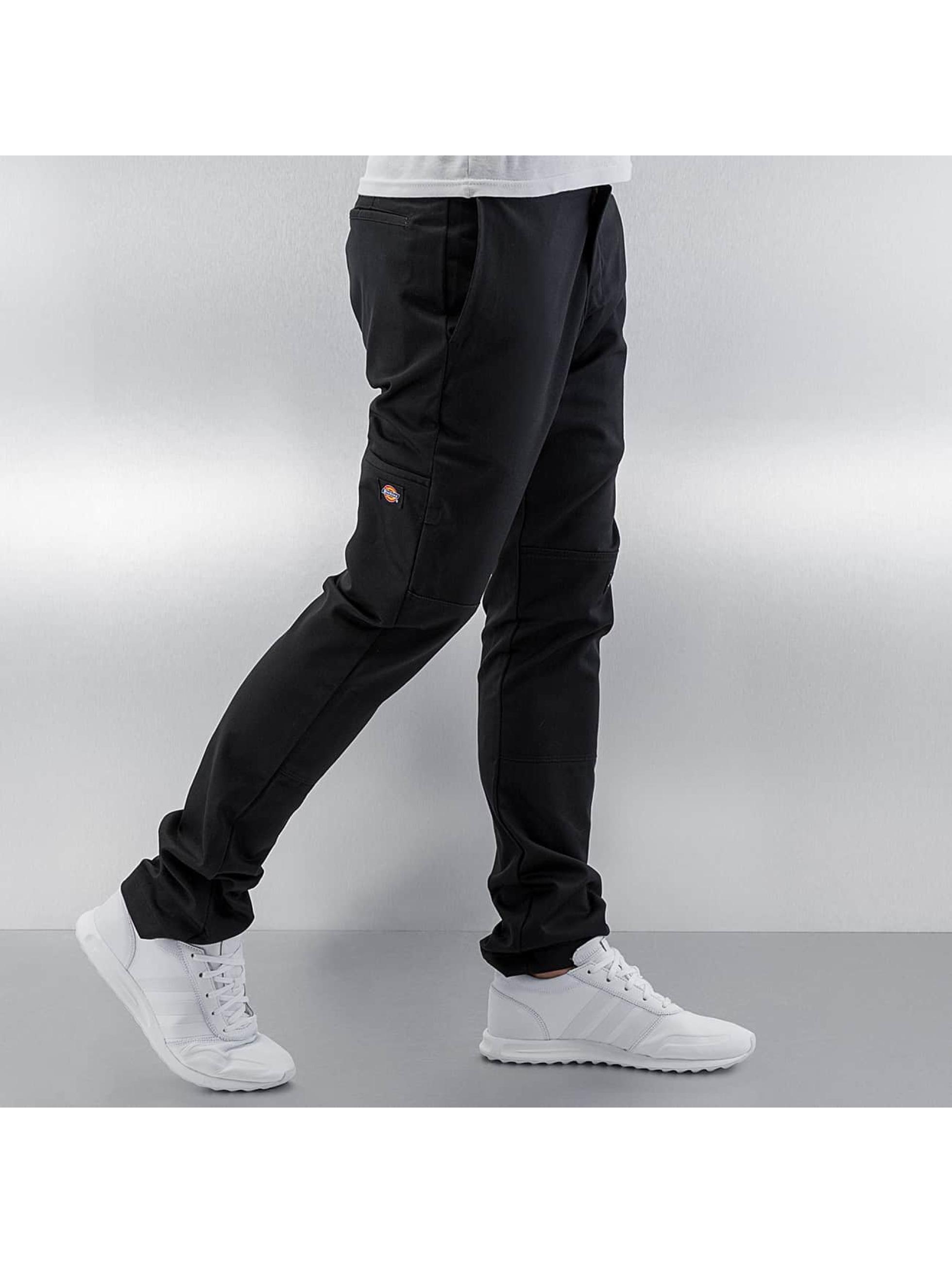 Dickies Stoffbukser Skinny Fit Double Knee svart