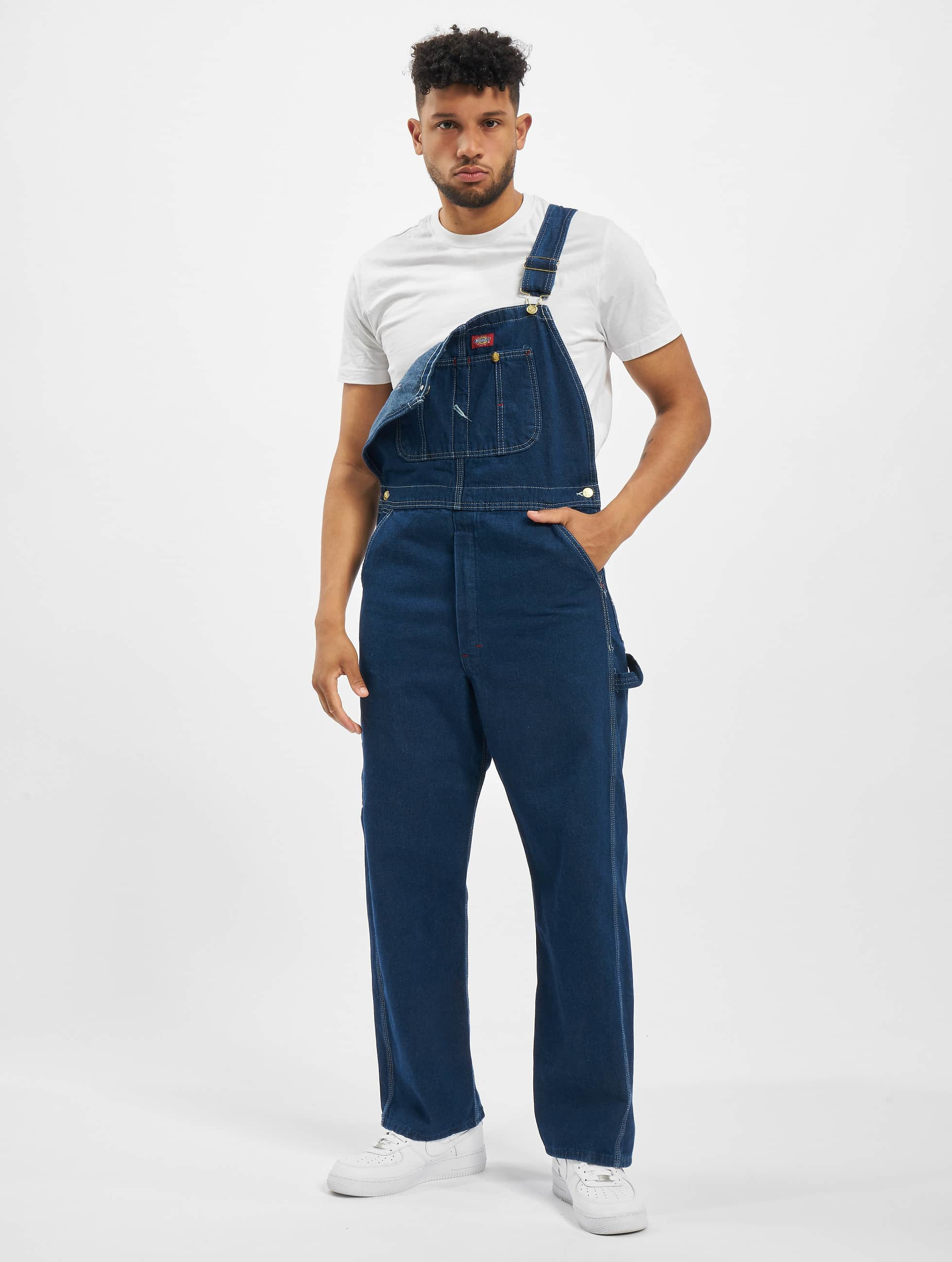 Straight Fit Jeans Bib Overall in blau
