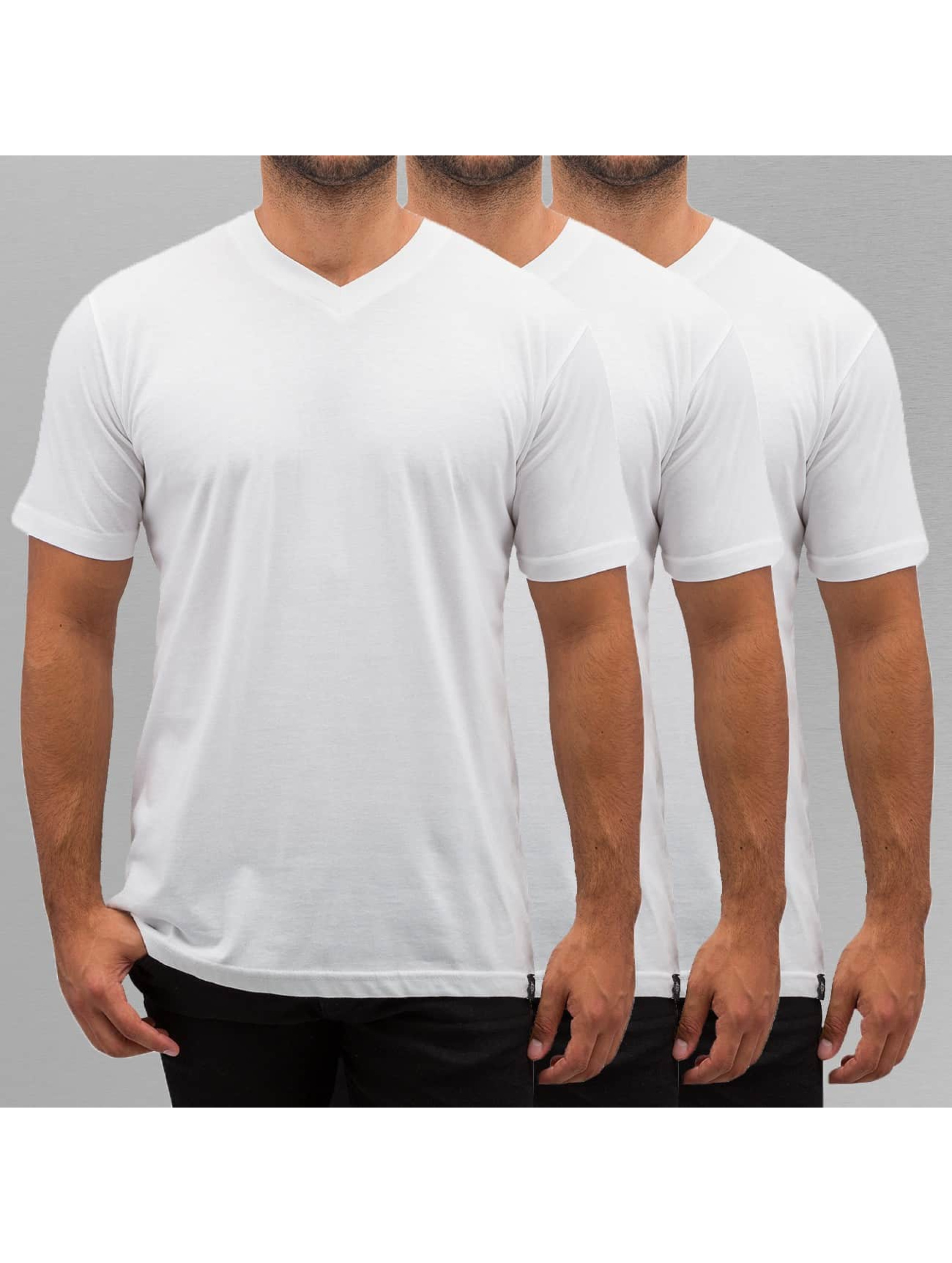 Dickies T-Shirt V-Neck 3er-Pack blanc