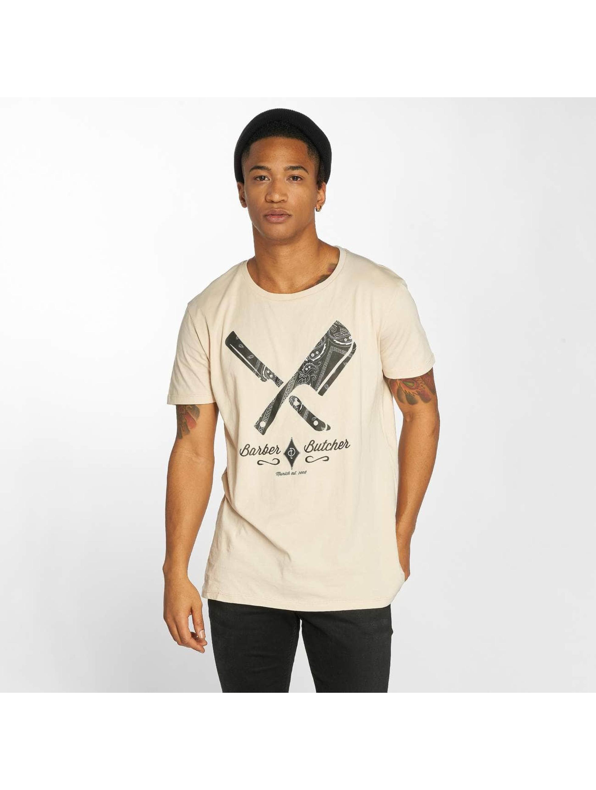 Distorted People Camiseta Barber & Butcher Paisley beis