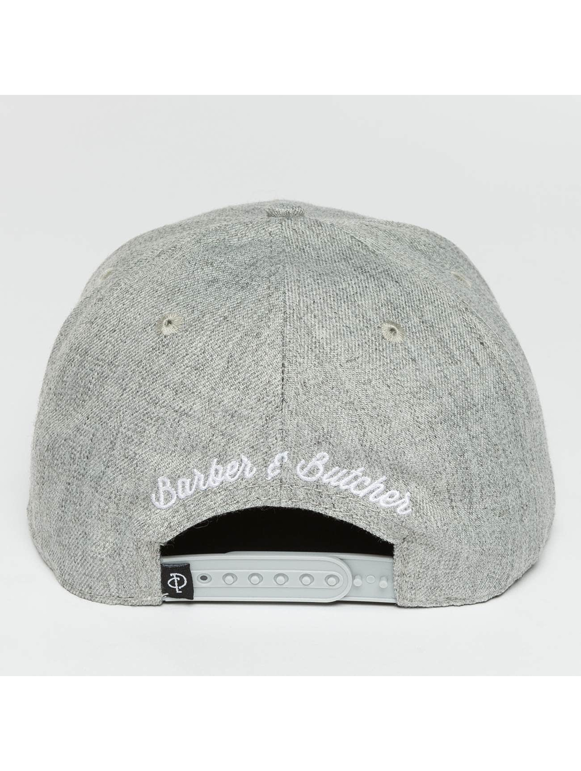 Distorted People Gorra Snapback Barber & Butcher gris