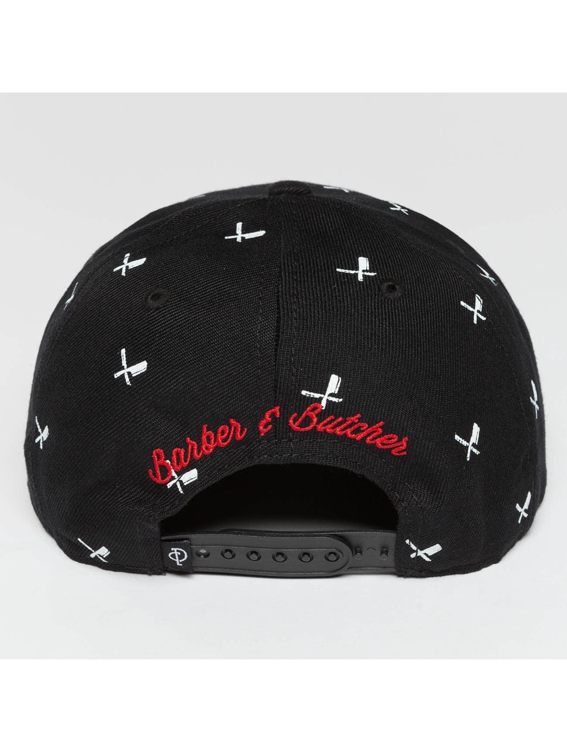 Distorted People Snapback Cap All Over black