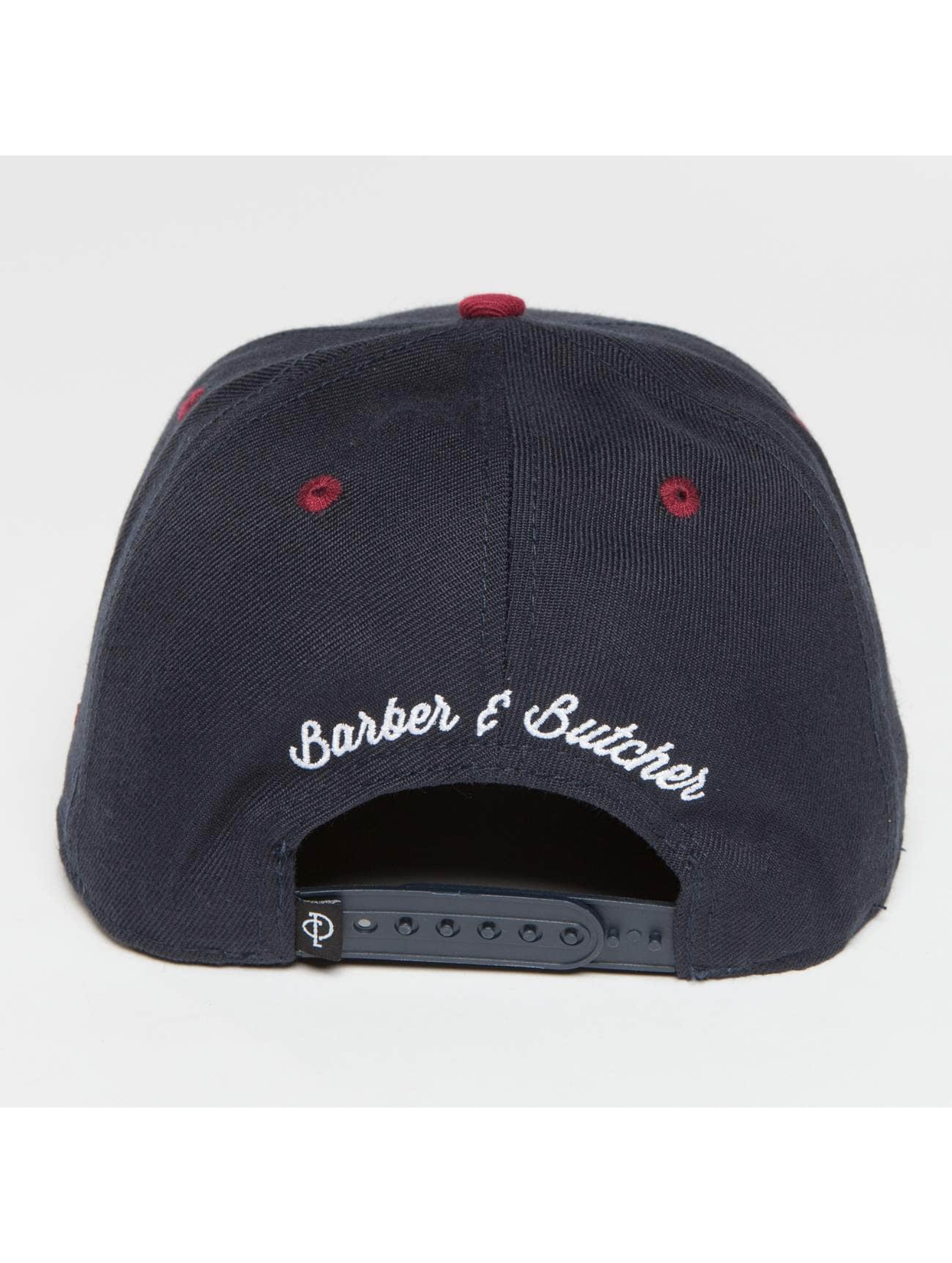 Distorted People snapback cap Barber & Butcher blauw