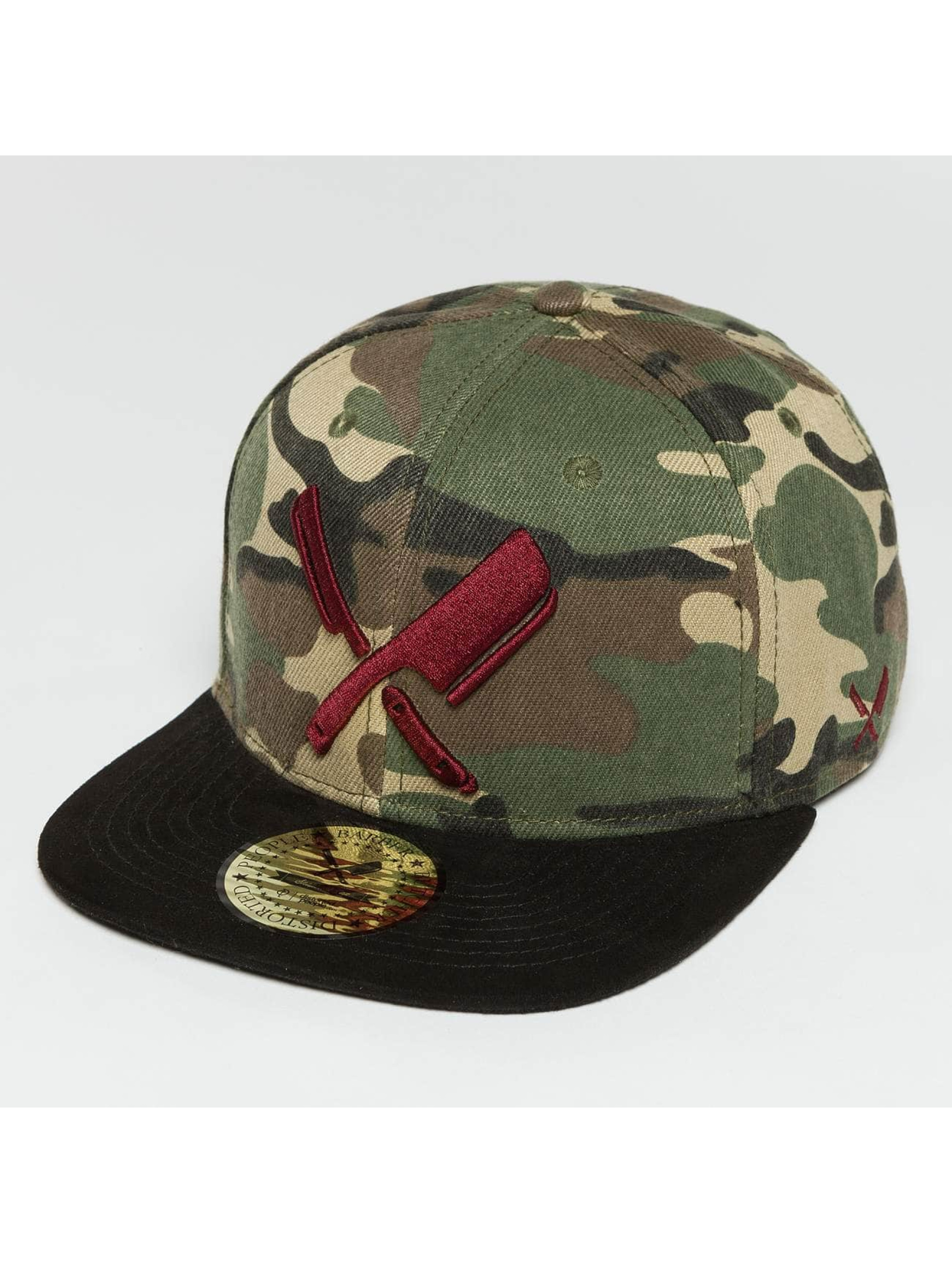 Distorted People snapback cap Barber & Butcher camouflage