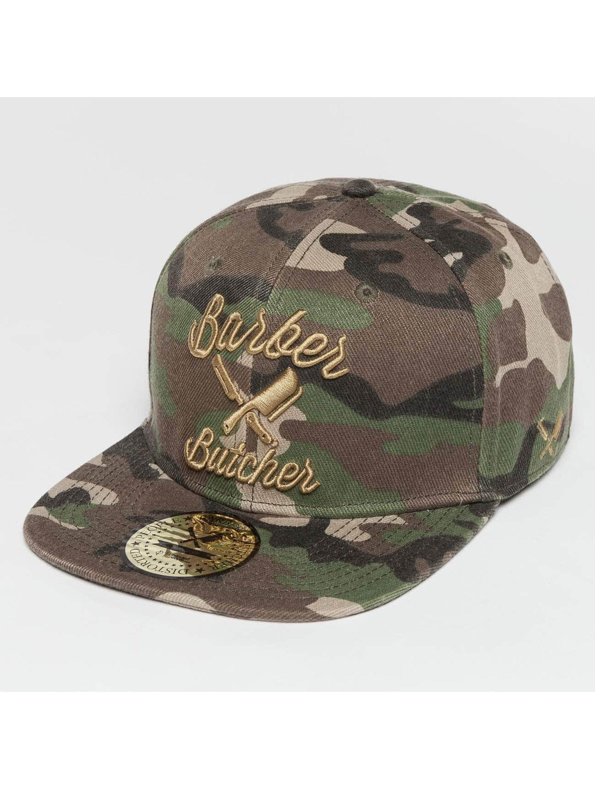 Distorted People Snapback Cap BB Blades camouflage