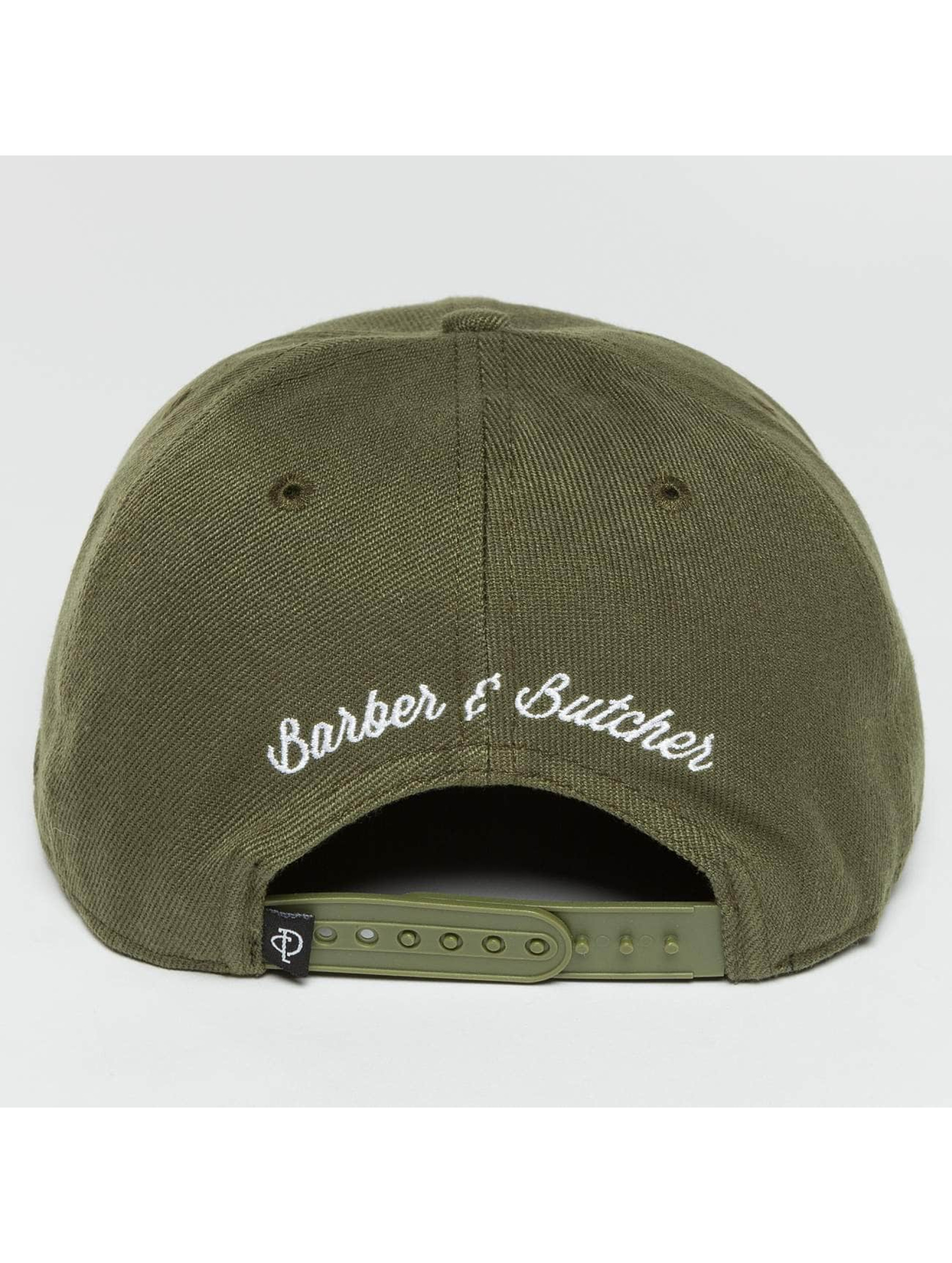 Distorted People Snapback Cap Barber & Butcher olive
