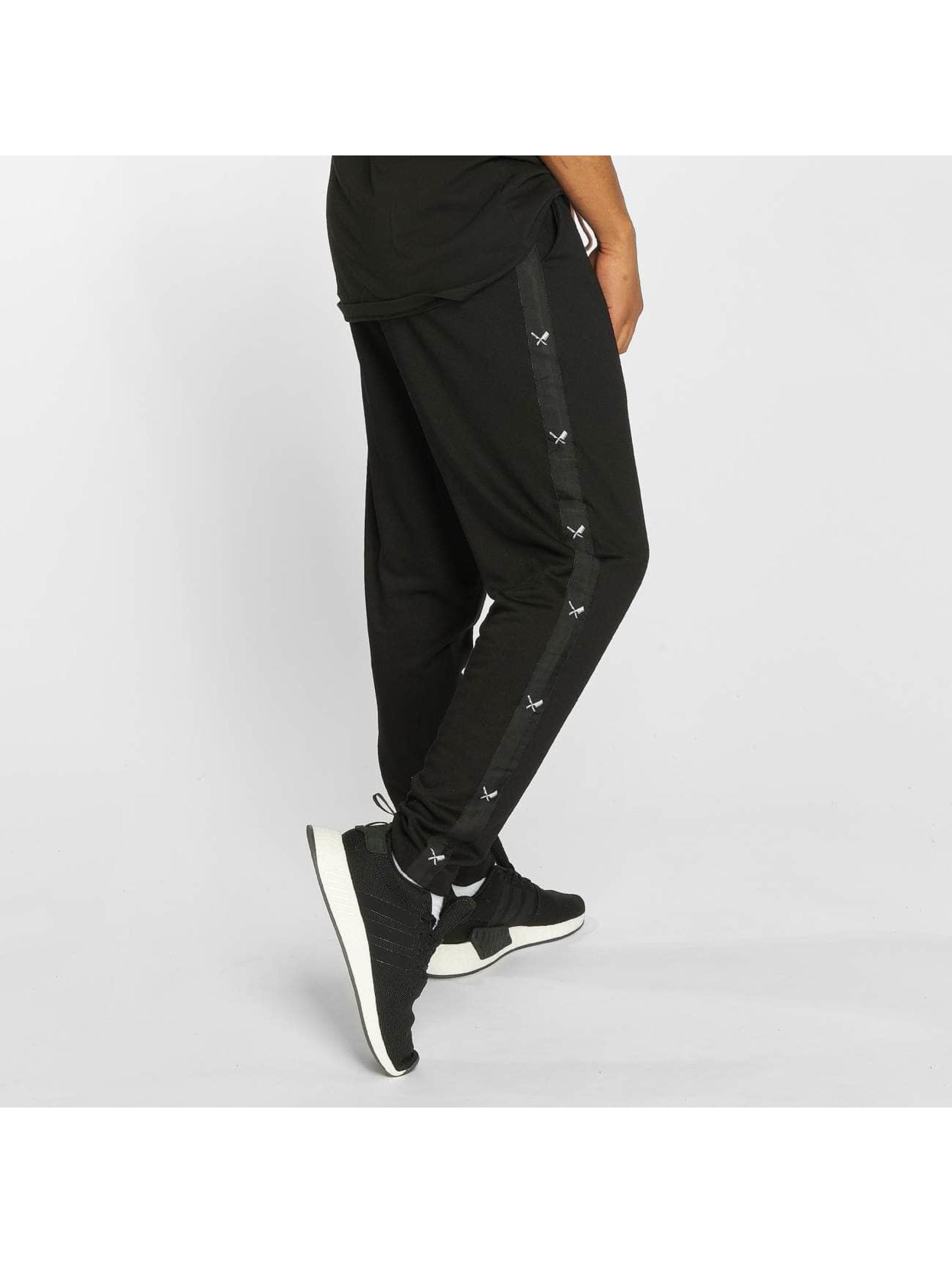 Distorted People Spodnie do joggingu Exile czarny