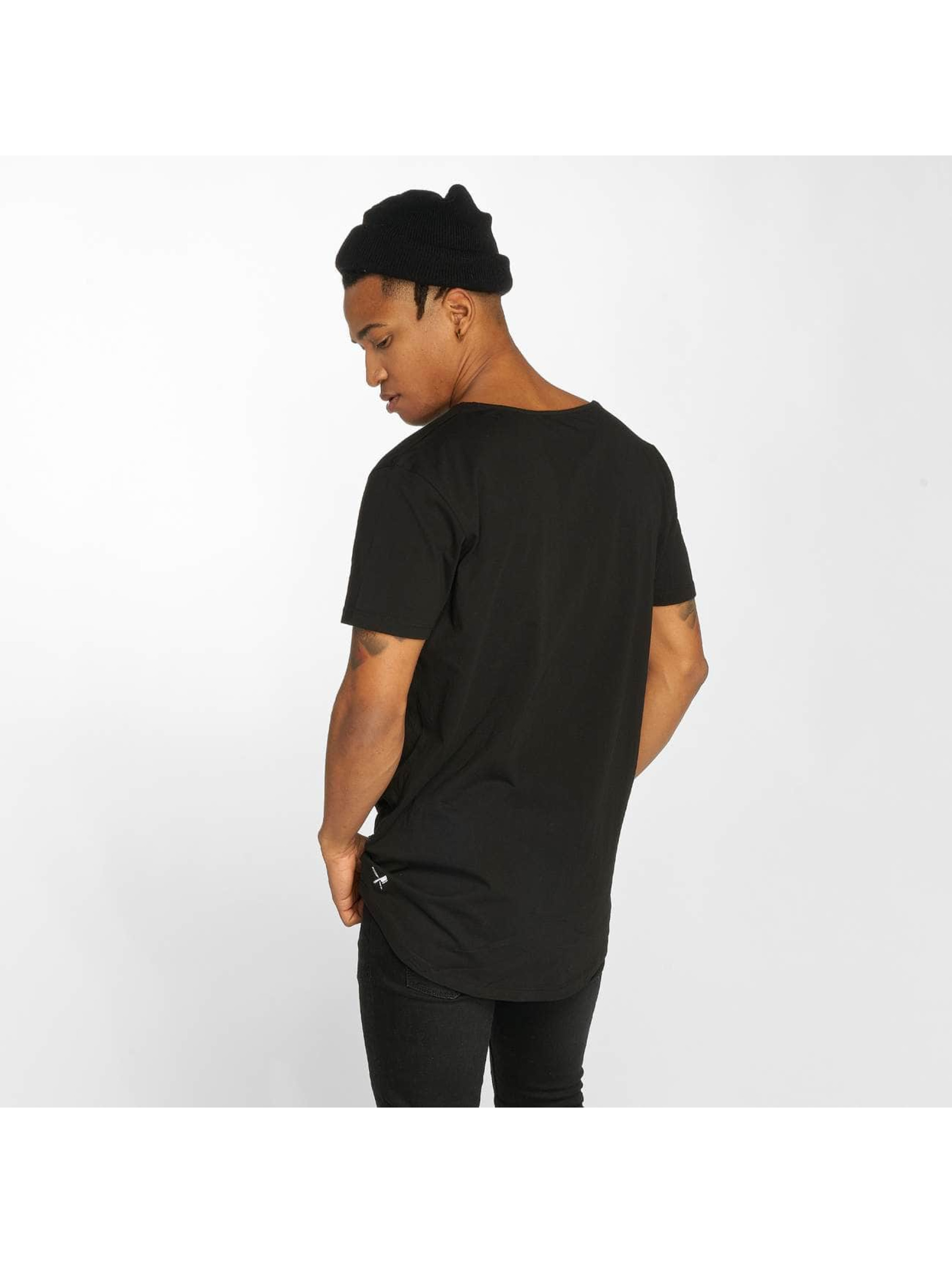 Distorted People t-shirt Cutted zwart