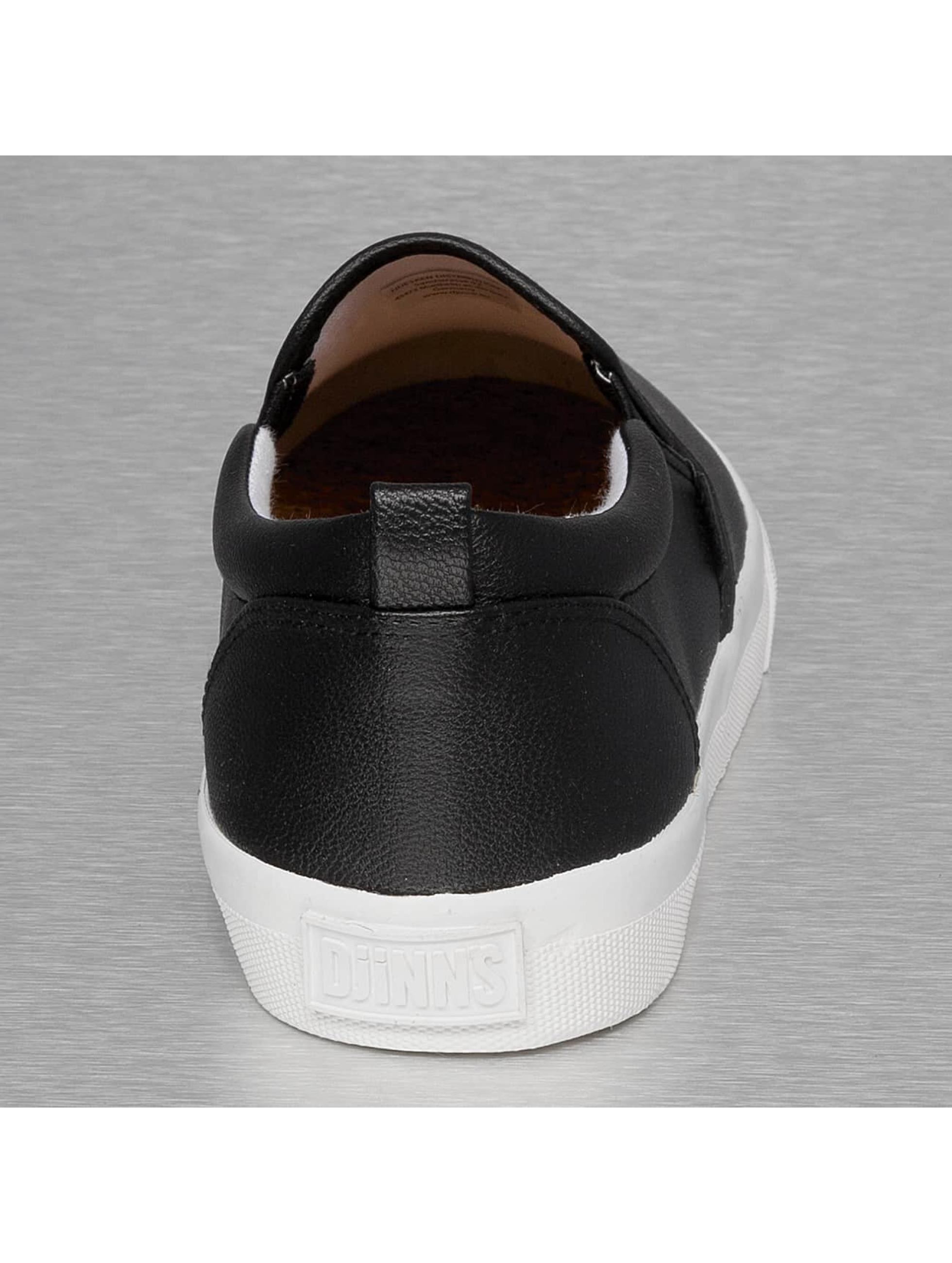 Djinns Baskets Leather Slider noir