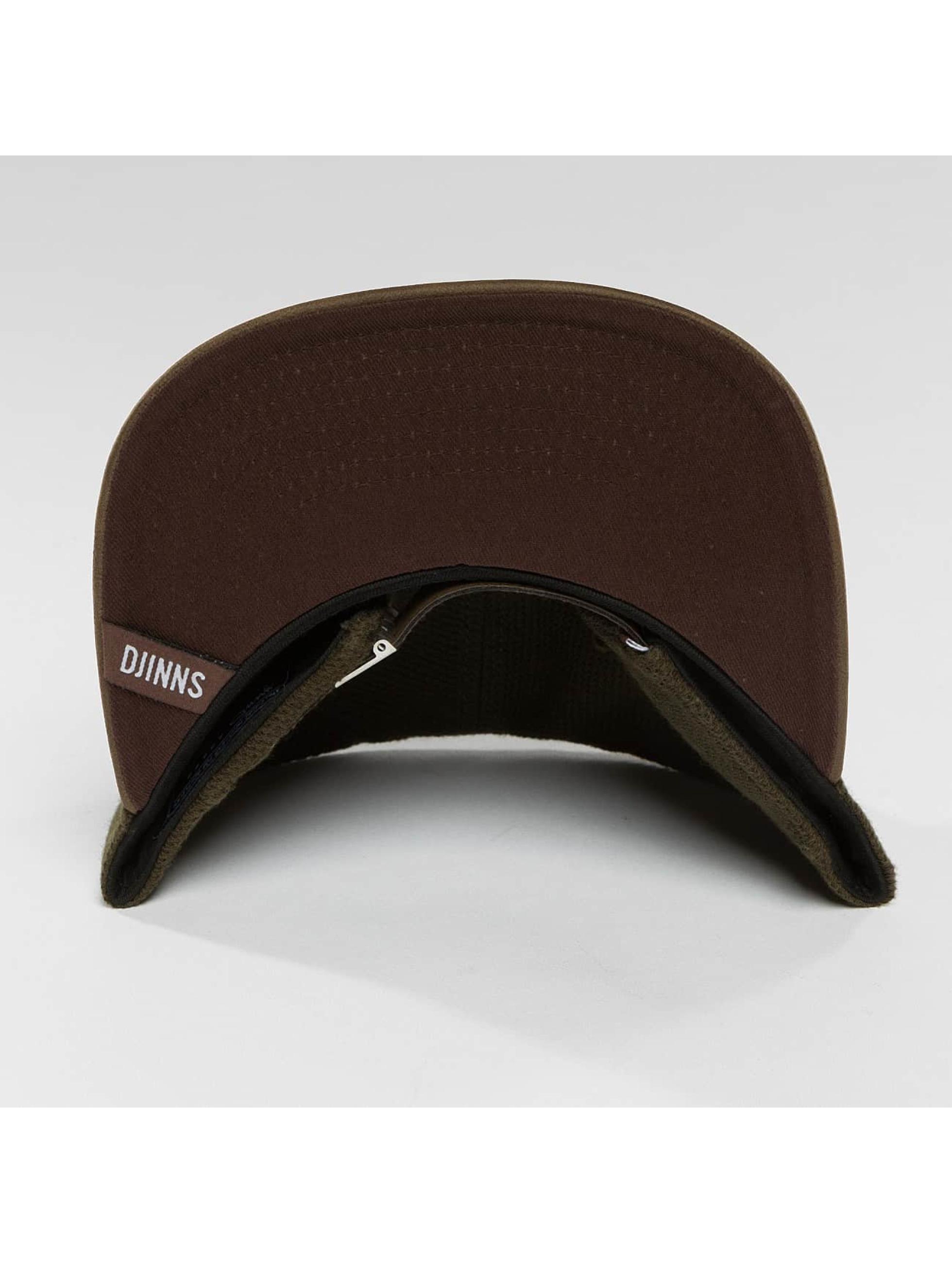 Djinns Casquette Snapback & Strapback 6 Panel Piki Leather brun