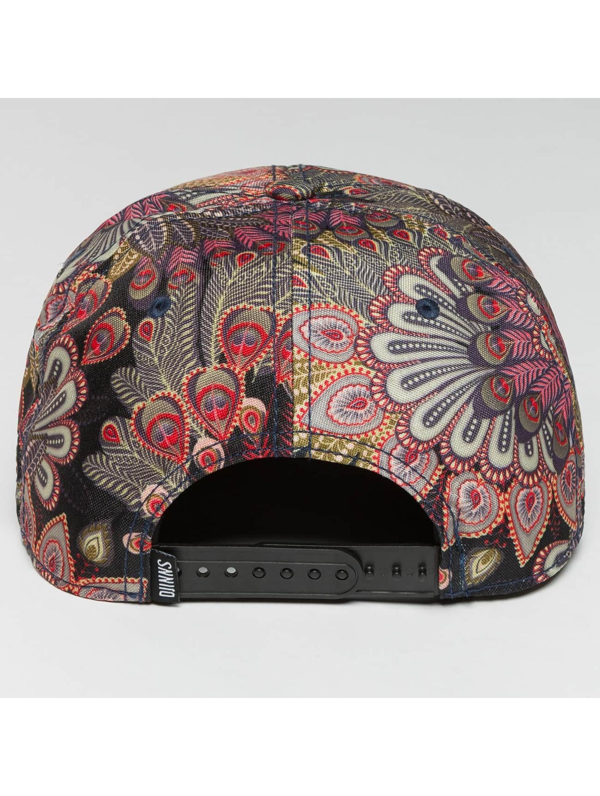 Djinns Casquette Snapback & Strapback Peacock Linen 6 Panel noir