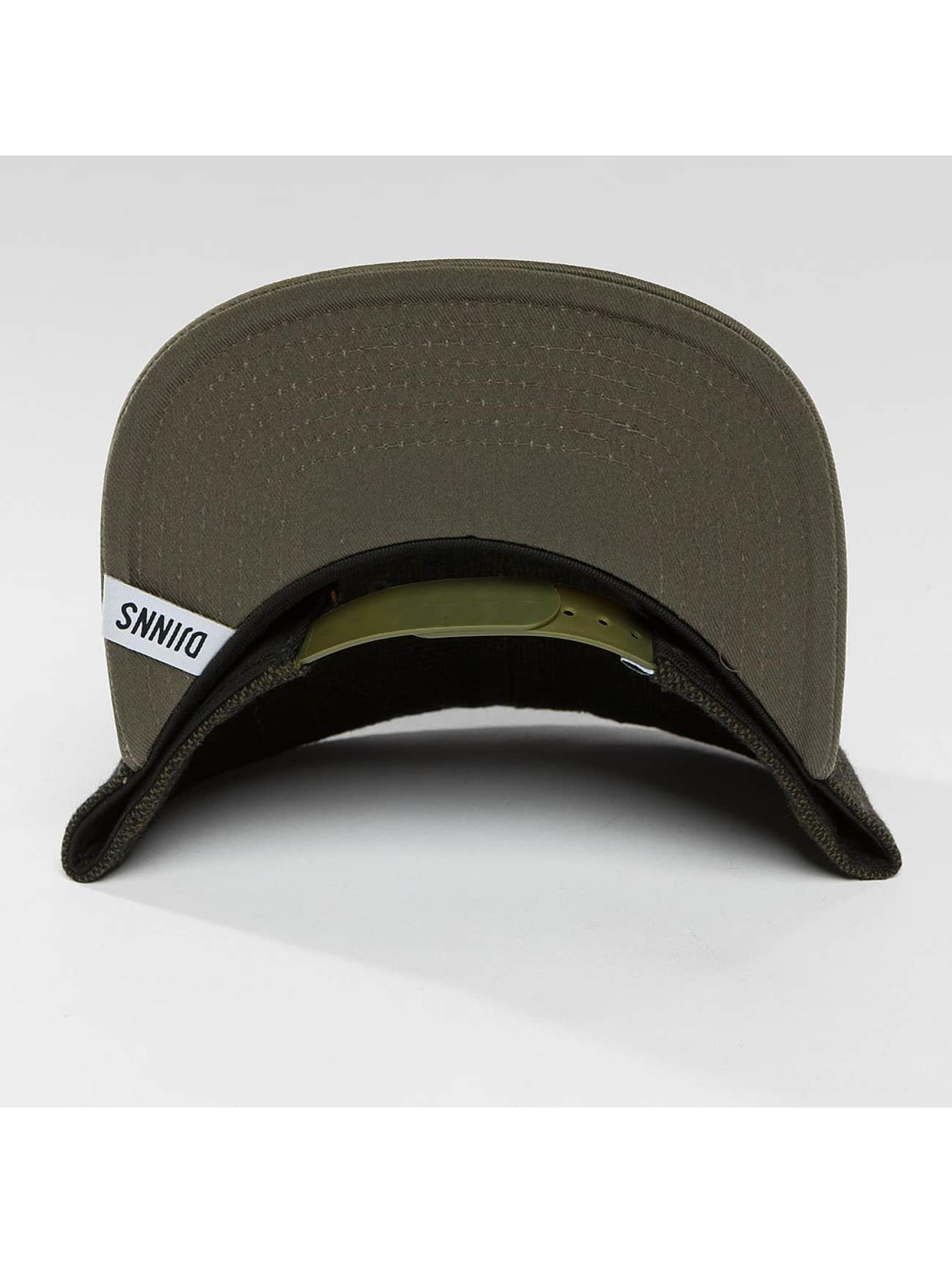 Djinns Casquette Snapback & Strapback 5 Panel Fel Rubber olive
