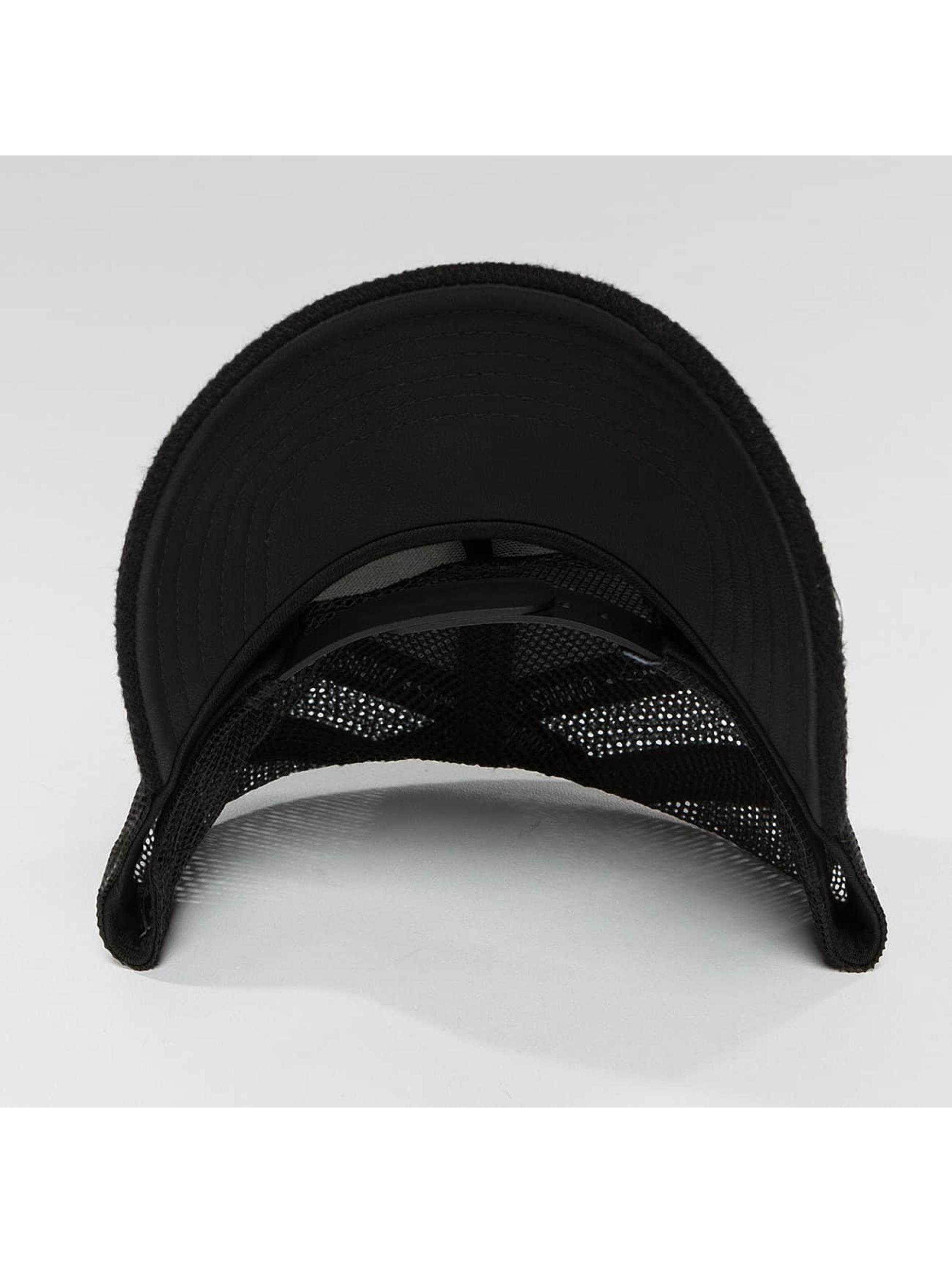 Djinns Casquette Trucker mesh HFT Piki Leather noir